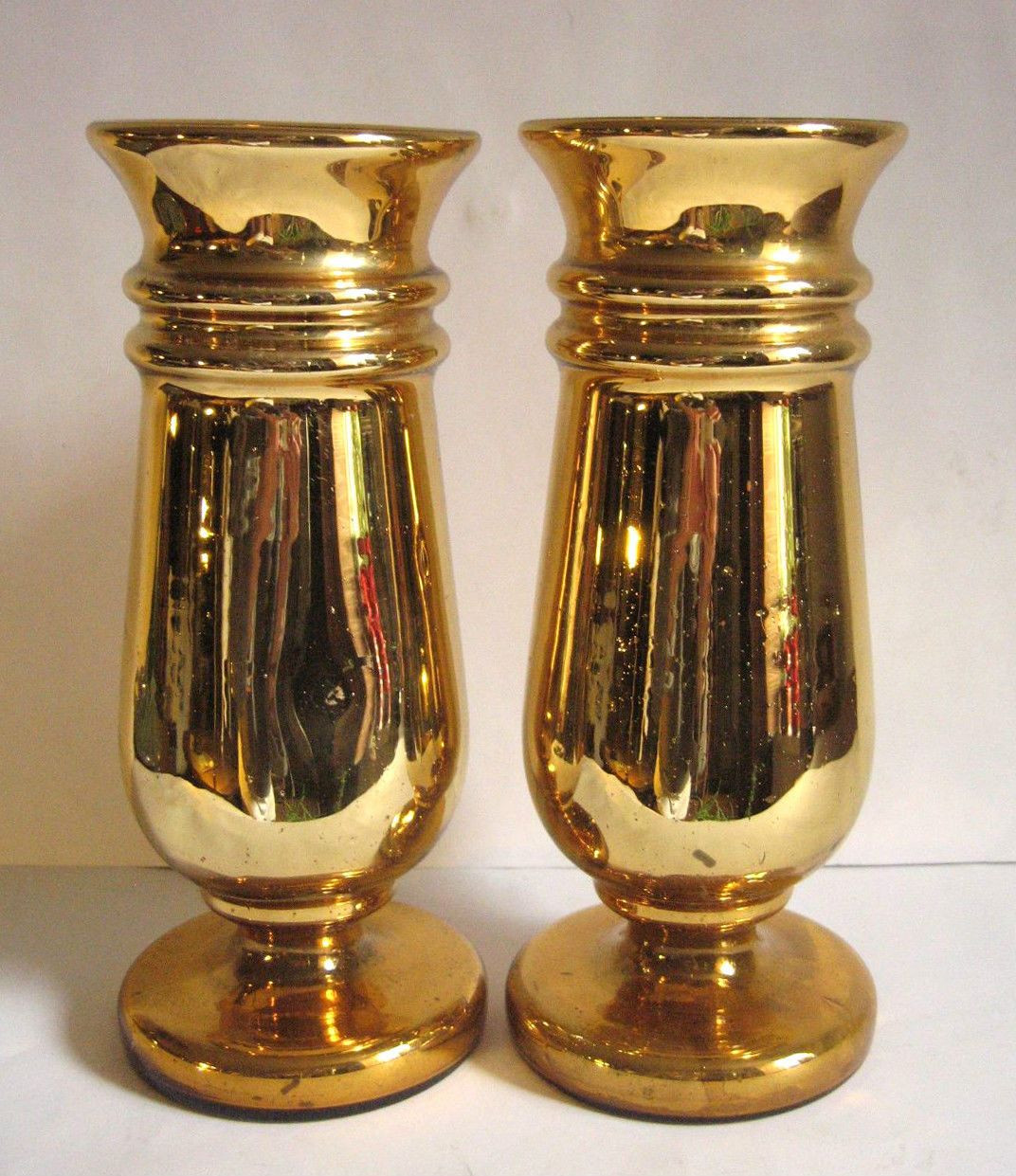 tall gold mercury glass vases of antique mercury glass vase pair gold original ebay vases with antique mercury glass vase pair gold original ebay