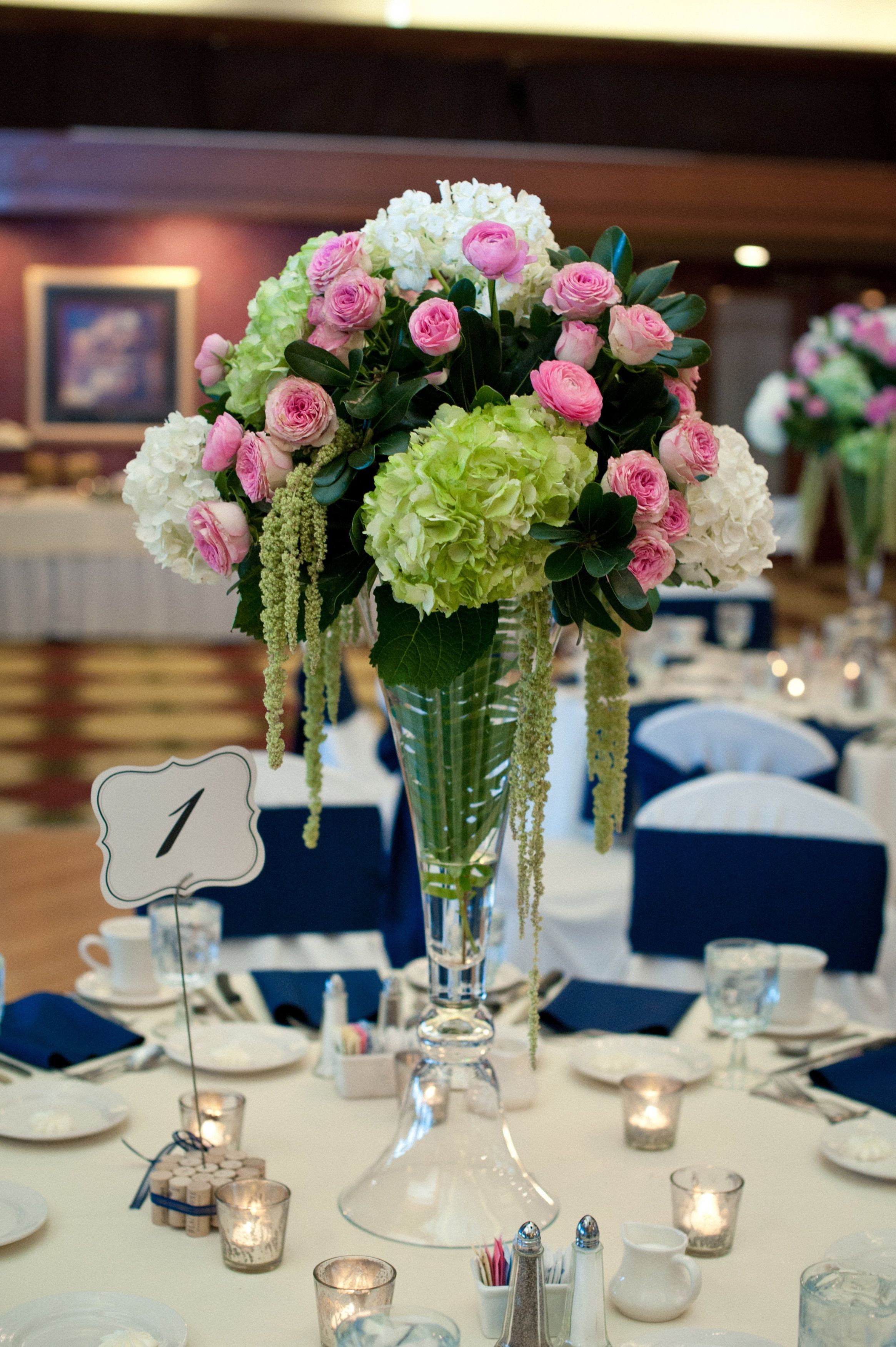 tall gold vases for wedding centerpieces of tall wedding centerpieces green hydrangea pink garden roses white with regard to tall wedding centerpieces green hydrangea pink garden roses white hydrangea and hanging green amaranthus karriehlistadesigns com