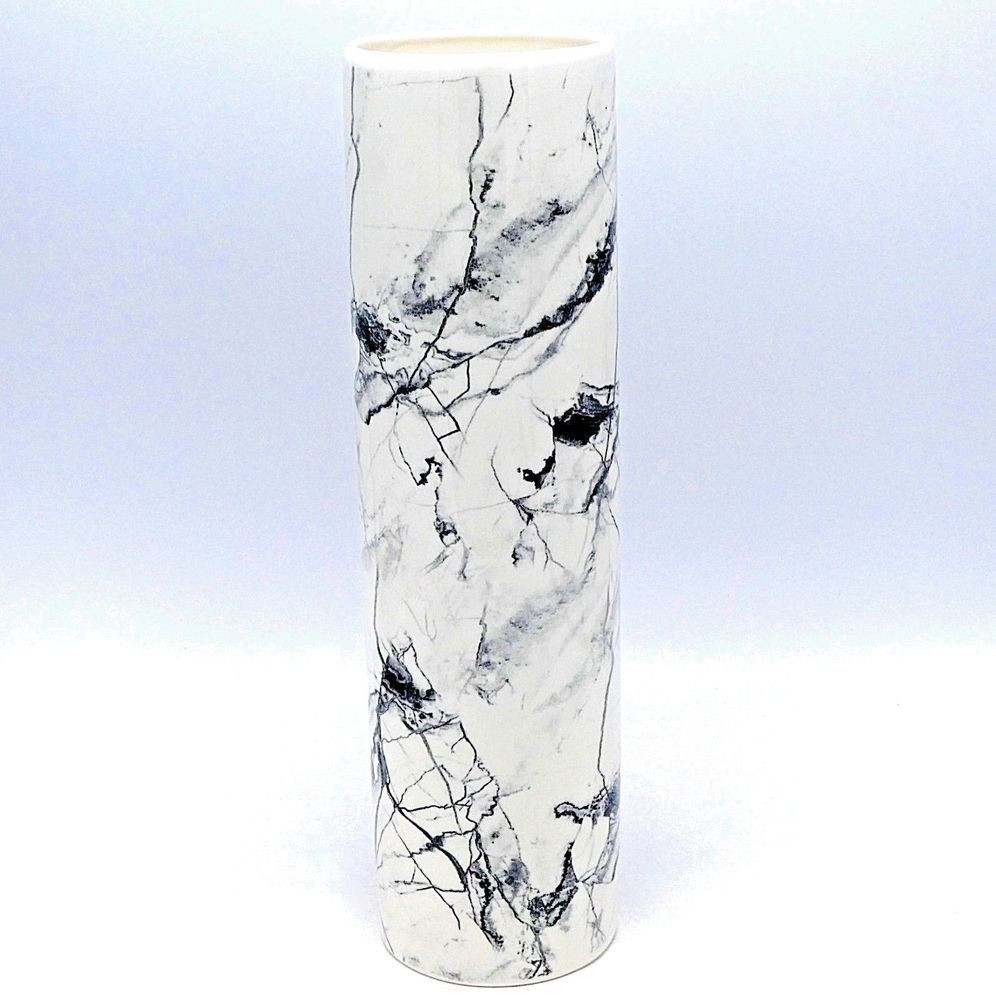 tall gray floor vase of tall white ceramic decorative vase faux marble horsehair gray black in tall white ceramic decorative vase faux marble horsehair gray black veining 12 decorativevase