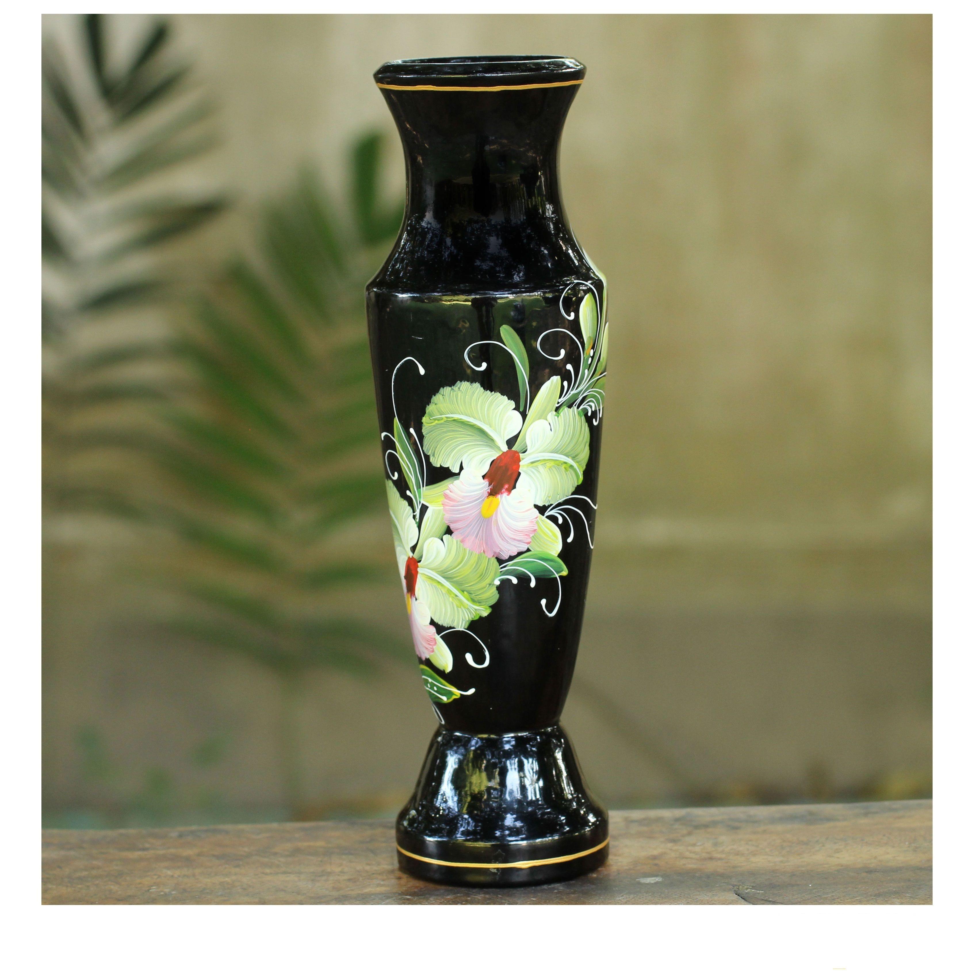 tall mango wood vase of novica handmade lacquered mango wood precious cattleya orchid vase within novica handmade lacquered mango wood precious cattleya orchid vase thailand solid