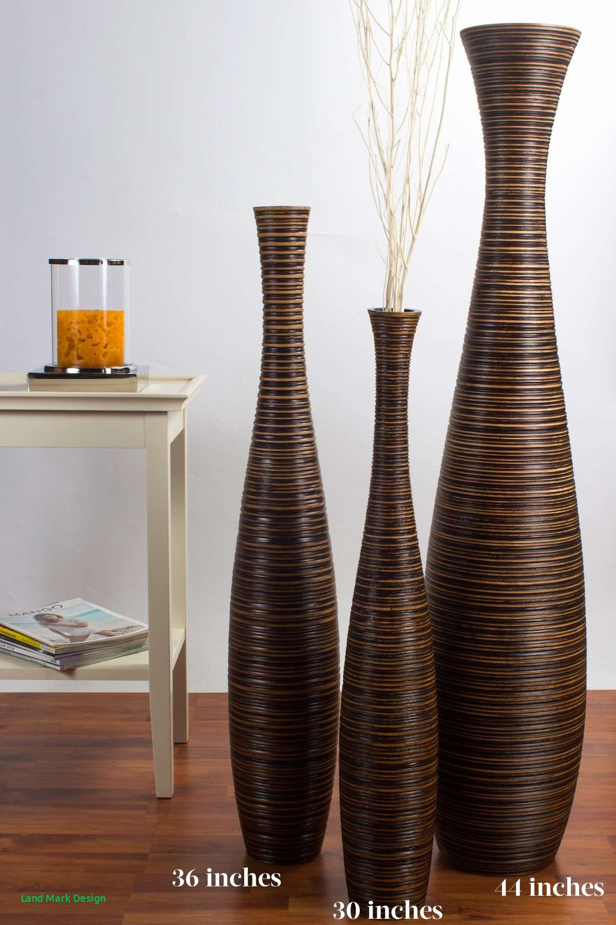 17 Cute Tall Mango Wood Vase