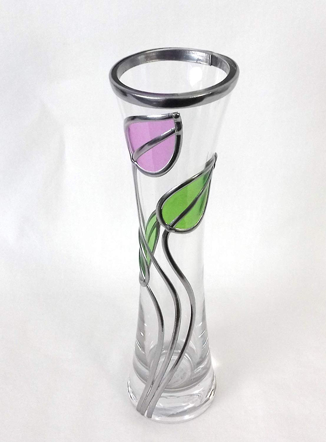 tall margarita glass vase of elegant decorative glass posy vase suitable for flowers 20 cm tall pertaining to elegant decorative glass posy vase suitable for flowers 20 cm tall rennie mackintosh style with art deco and art nouveau influences