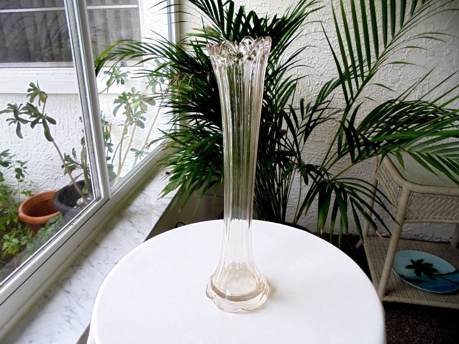 tall mercury glass vase of large mercury glass vase beautiful antique glass tall clear flower pertaining to large mercury glass vase beautiful antique glass tall clear flower vase c1900 22 39