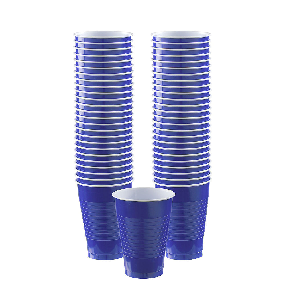 tall plastic cylinder vases of bogo royal blue plastic cups 50ct 12oz party city with bogo royal blue plastic cups 50ct image 1