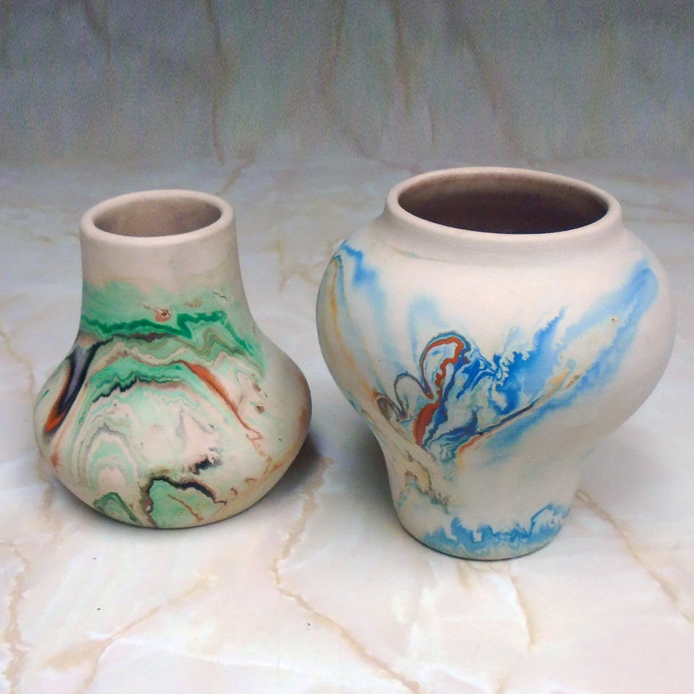 tall pottery vases of pair vintage nemadji pottery vases 5 and 5 1 2 inches tall pertaining to pair vintage nemadji pottery vases 5 and 5 1 2 inches tall multicolor clay ebay