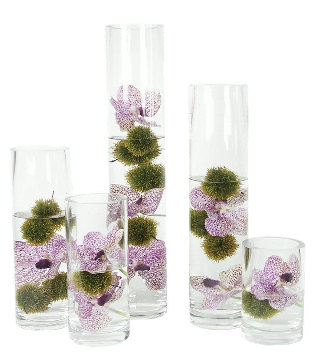 tall purple glass vases of glass tall cylinder candle vase 19 cm high x 12 cm bubble base within glass tall cylinder candle vase 19 cm high x 12 cm bubble base meganey amazon co uk kitchen home