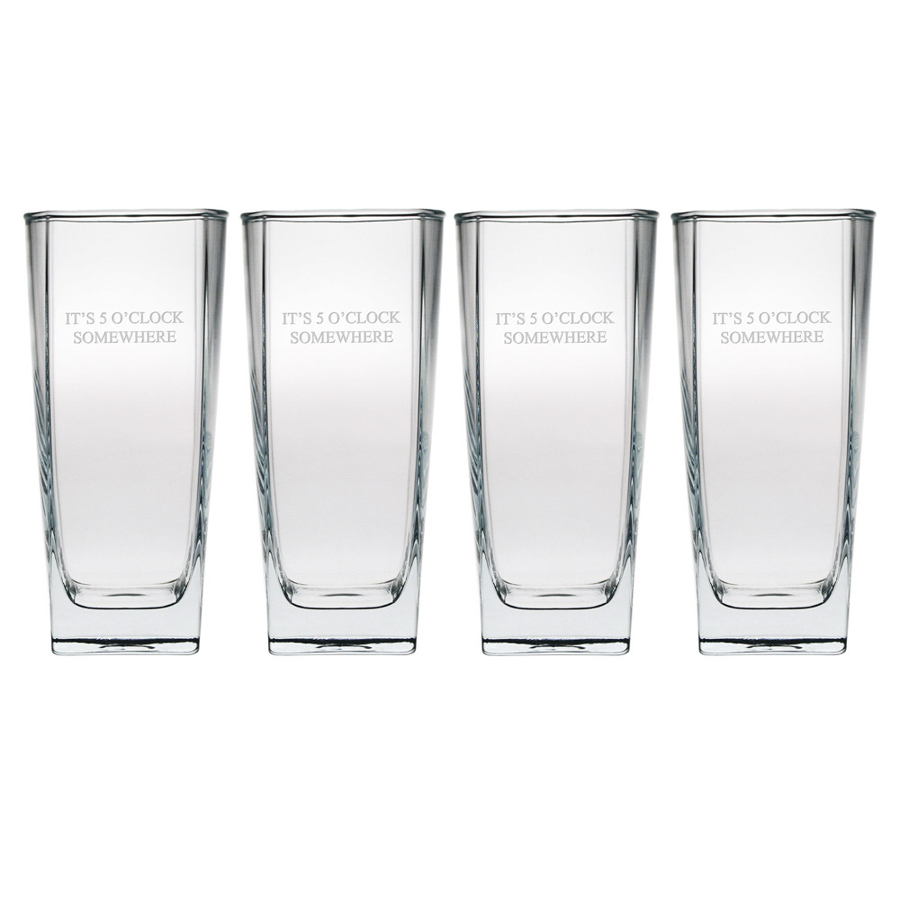Tall Recycled Glass Floor Vases Of Sterling Hi Ball Glasses Set Of 4 Free Personalization within 4898 Sterling Hi Ball Glasses Set Of 4 01b