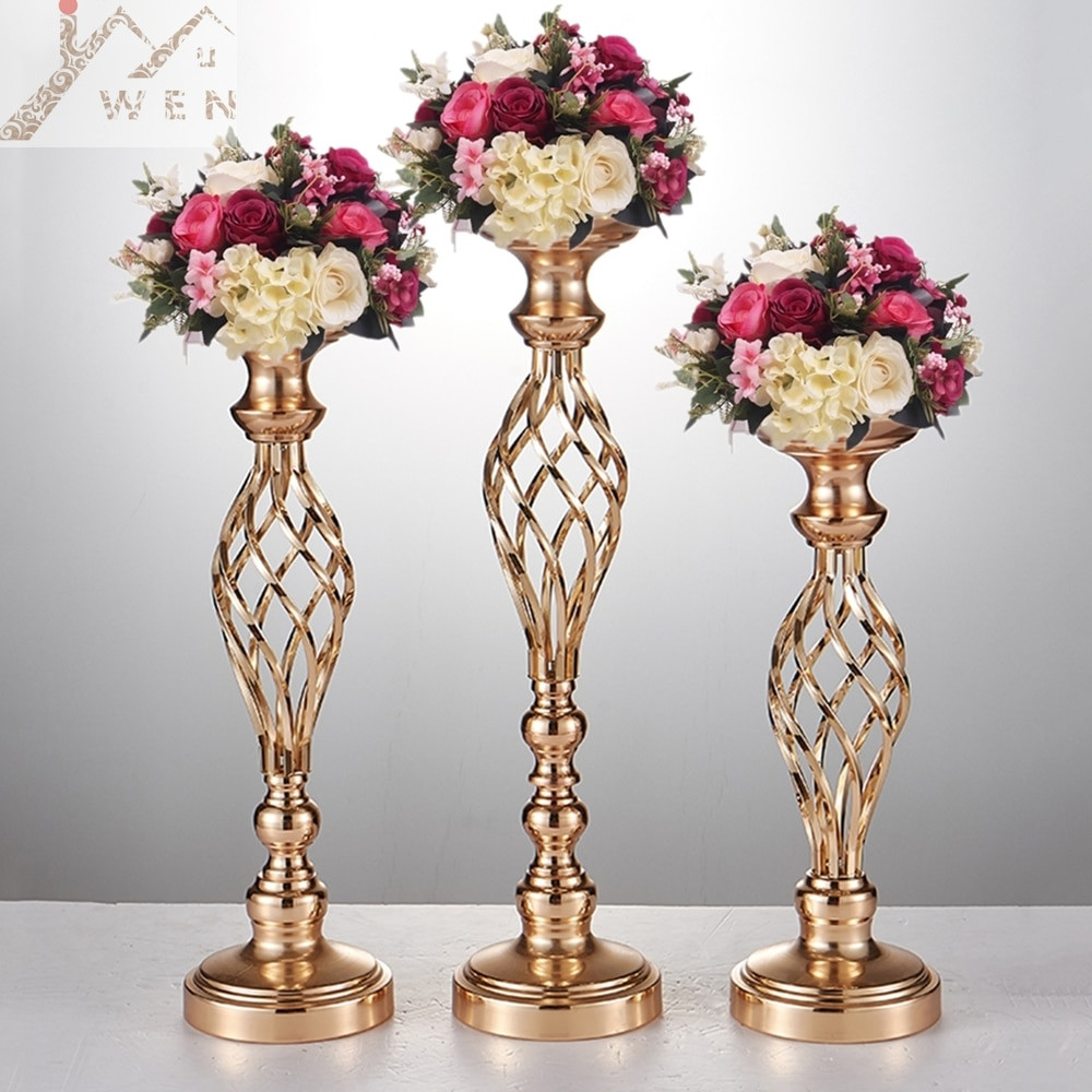 Tall Silver Flower Vases Of Creative Hollow Gold Silver Metal Candle Holder Wedding Table Intended for 10pcs Gold Flower Vases Candle Holders Stand Wedding Decor Road Lead Table Centerpiece Rack Pillar Party