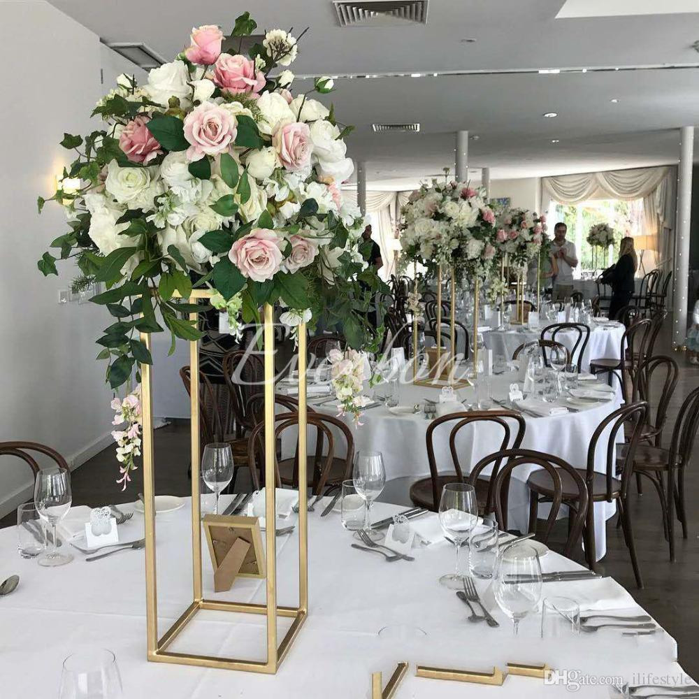 Tall Silver Vases for Wedding Centerpieces Of 2018 Wedding Gold Centerpiece Table Decoration Flower Vase Metal Regarding Your Satisfactory is Our Only Pursuit Your Feedback is Extremely Important