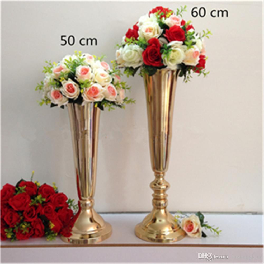 Tall Silver Vases for Wedding Centerpieces Of Silver Gold Plated Metal Table Vase Wedding Centerpiece event Road Regarding Silver Gold Plated Metal Table Vase Wedding Centerpiece event Road Lead Flower Rack Home Decoration Flower Rack Flower Road Lead Online with