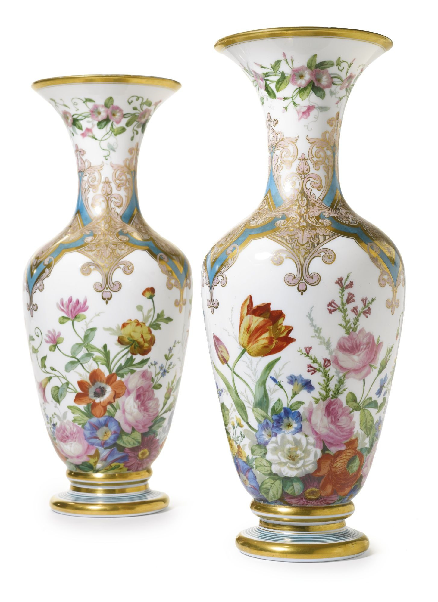 Tall Teal Glass Vase Of A Pair Of French White Opaline Glass Vasescirca 1860 Lot for A Pair Of French White Opaline Glass Vasescirca 1860 Lot sothebys