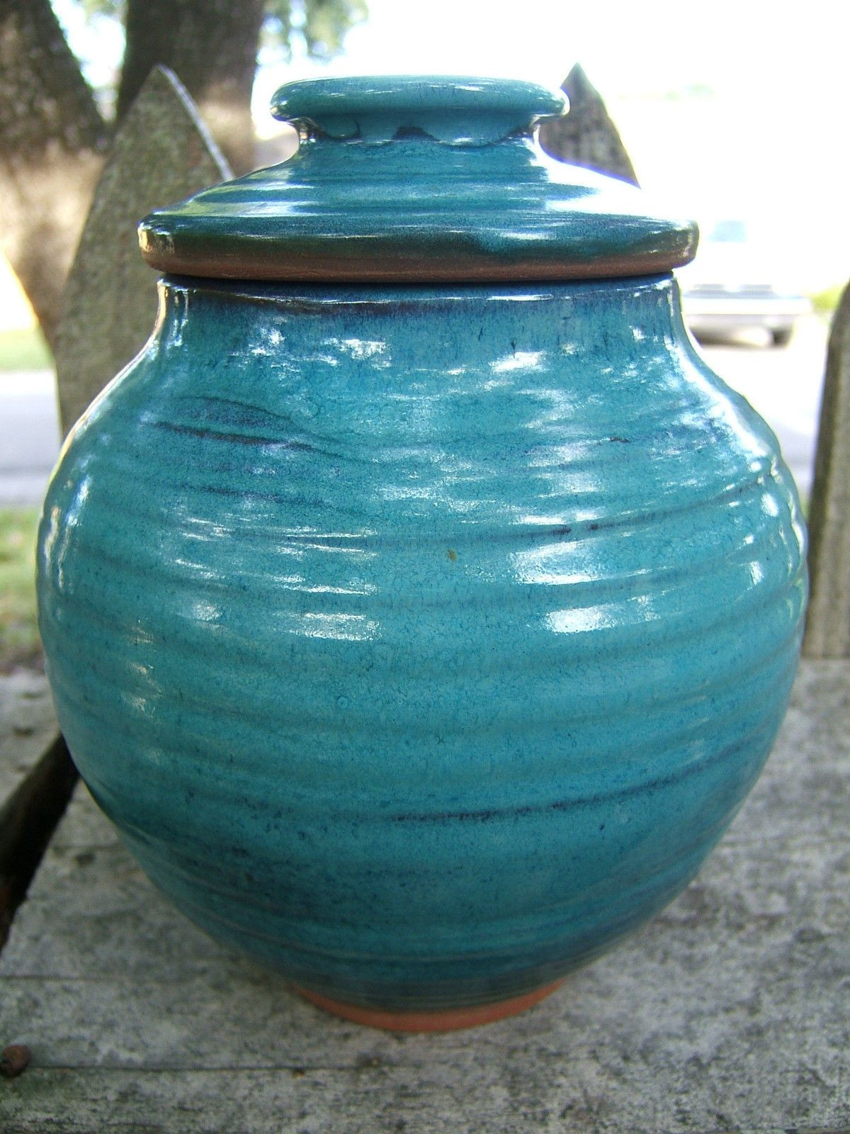 Tall Turquoise Vase Of Harding Black Texas Studio Art Pottery 1979 Signed Turquoise 8 Tall In Harding Black Texas Studio Art Pottery 1979 Signed Turquoise 8 Tall Ginger Jar Ebay