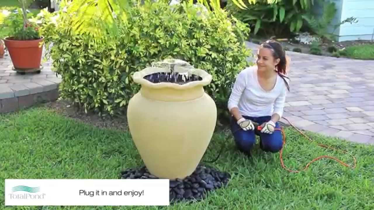 tall vase water fountain of urn container fountain project youtube within urn container fountain project
