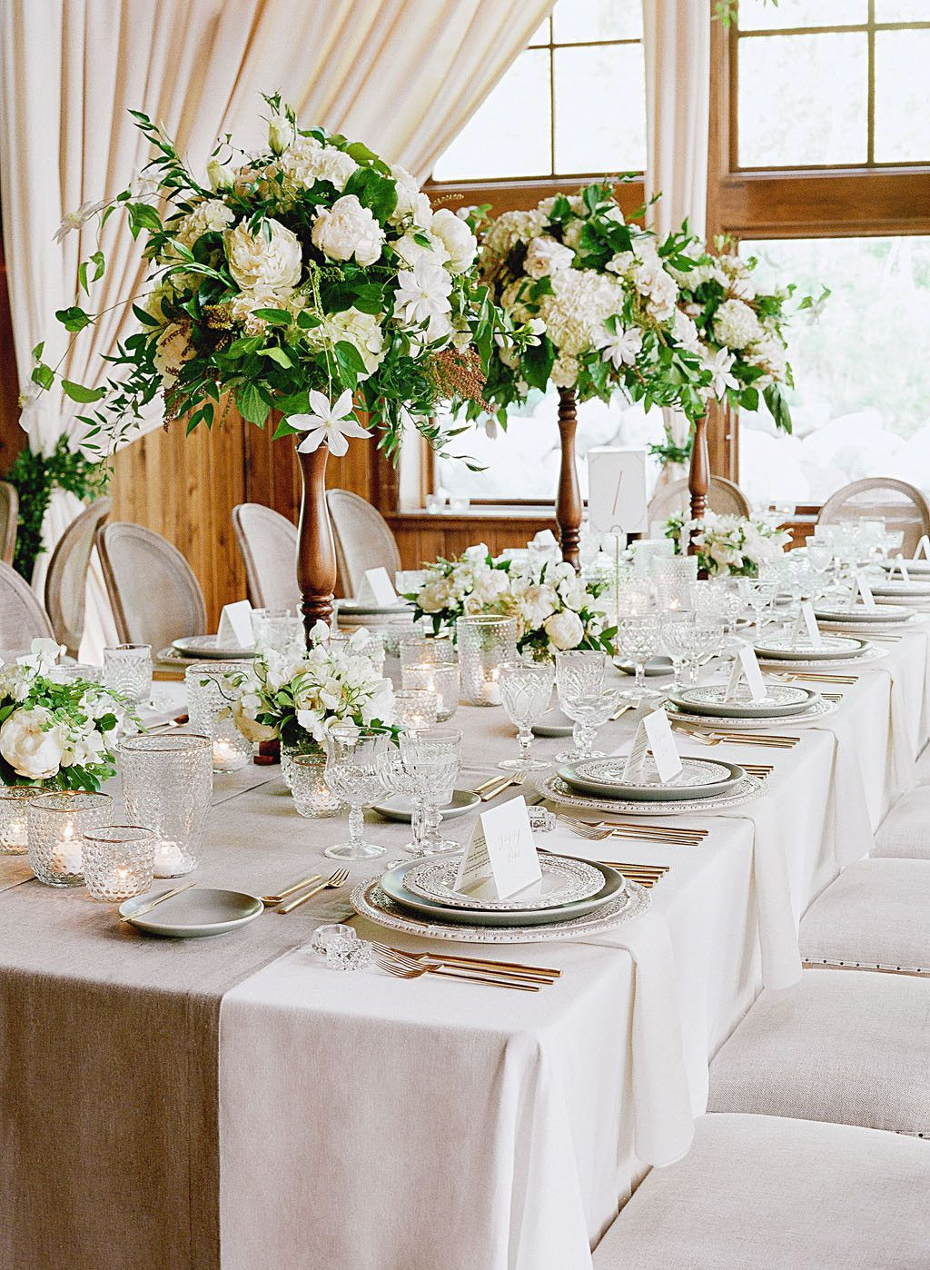 tall vases for wedding reception centerpieces of 79 white wedding centerpieces blairs bridal shower ideas with custom vases and tall white floral arrangements offered up an extra dose of elegance to this couples reception dacor bare root flora created equally