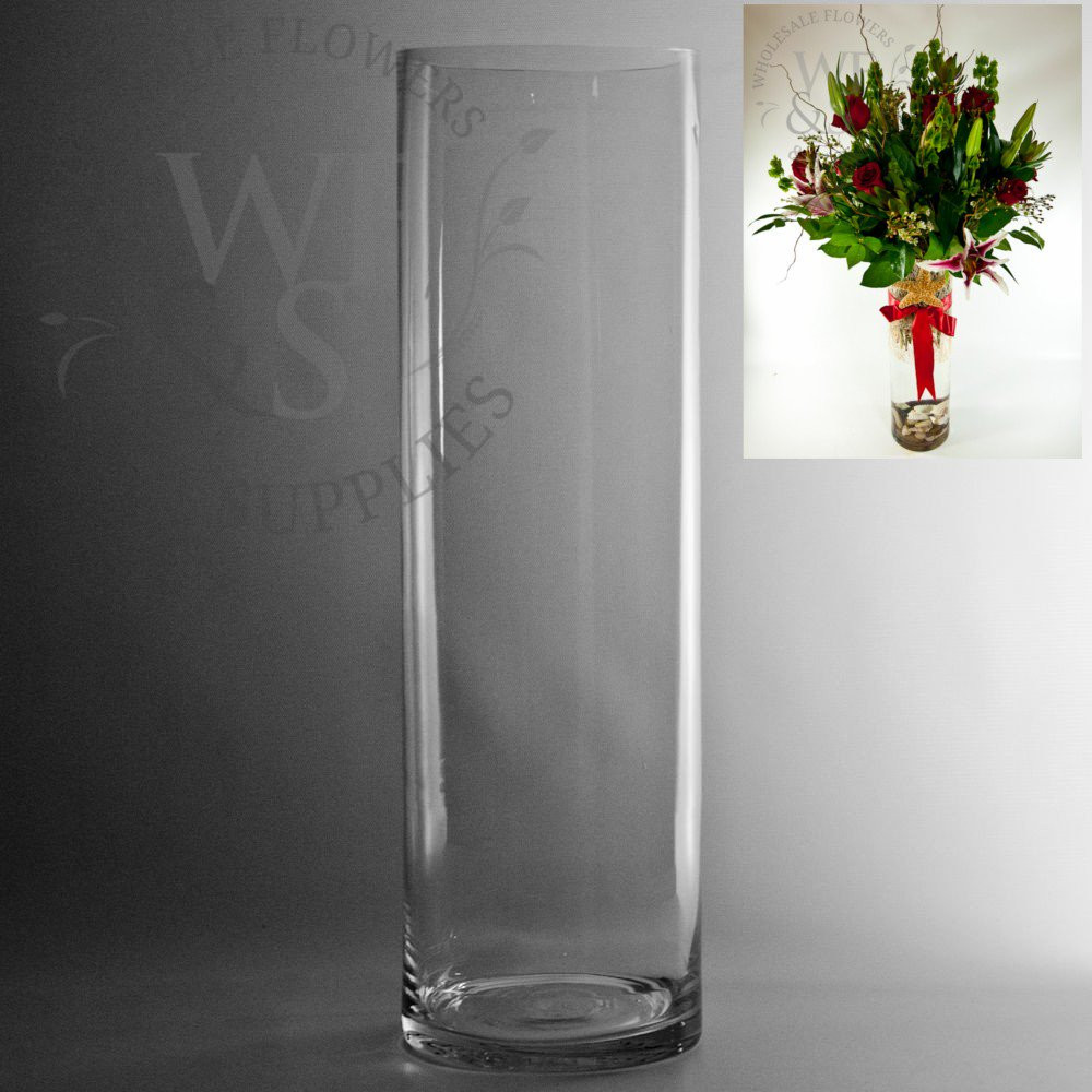 Tall Wide Mouth Vases Of Glass Cylinder Vases wholesale Flowers Supplies for 20 X 6 Glass Cylinder Vase