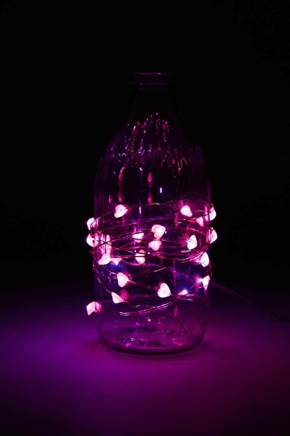 teak and blown glass vase sculpture of heart string lights urban outfitters kids room pinterest intended for heart string lights urban outfitters