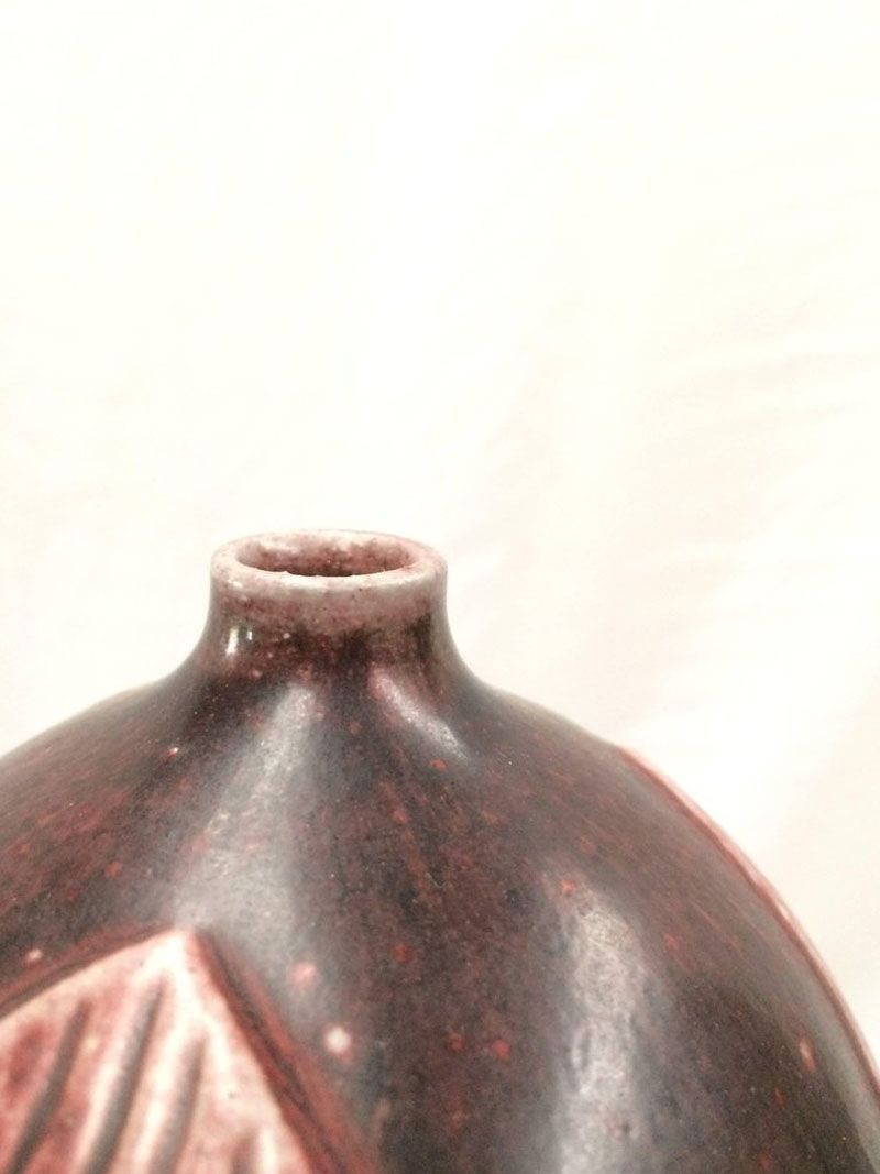 teak and blown glass vase sculpture of oxblood glazed stoneware vase by gerd bogelund for royal copenhagen intended for price per set