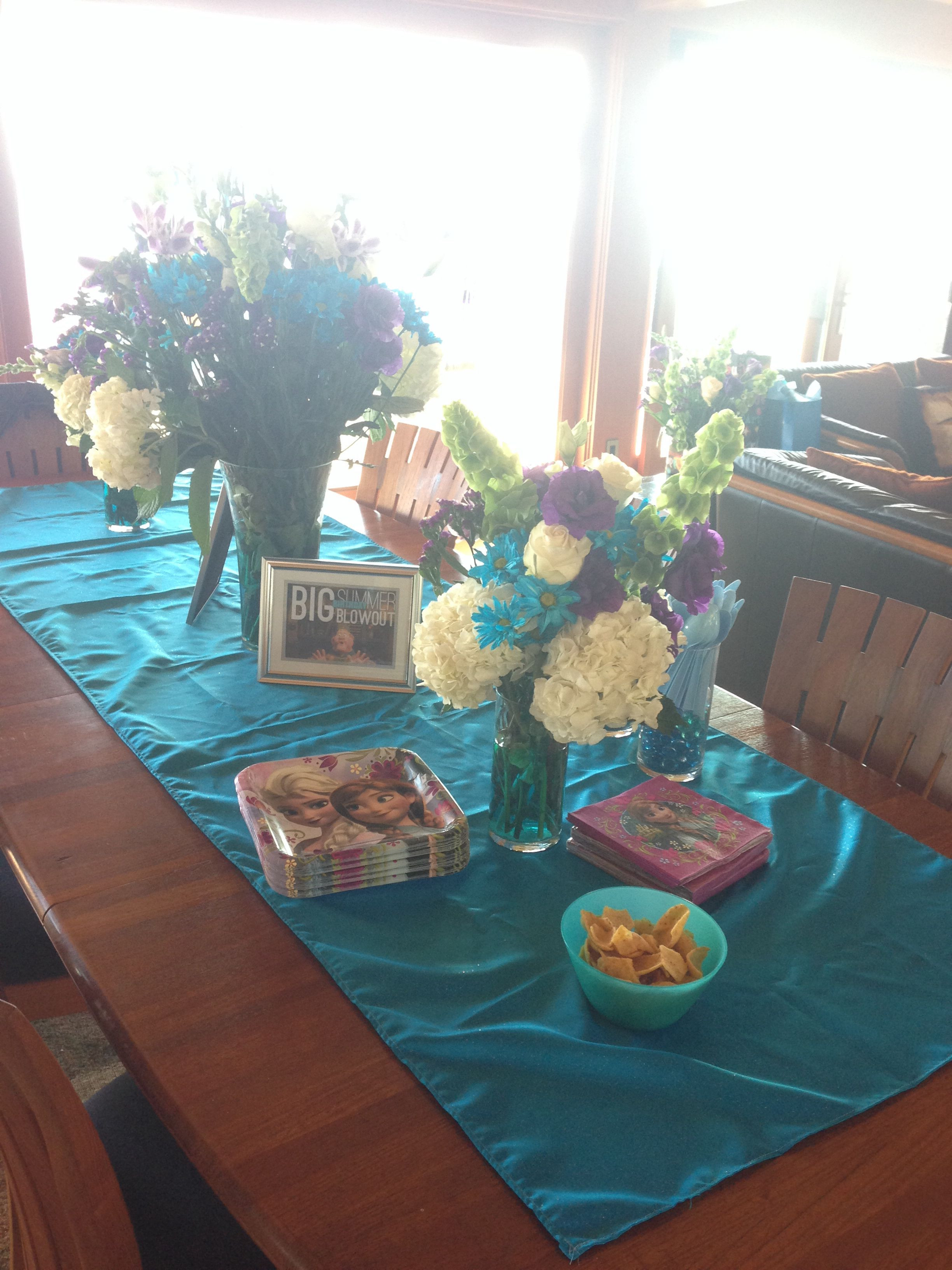 teal table vase of my frozen party dinner table decor flowers vases dollar tree regarding my frozen party dinner table decor flowers vases dollar tree blue sparkly table runner joanns frozen plates and napkins party city