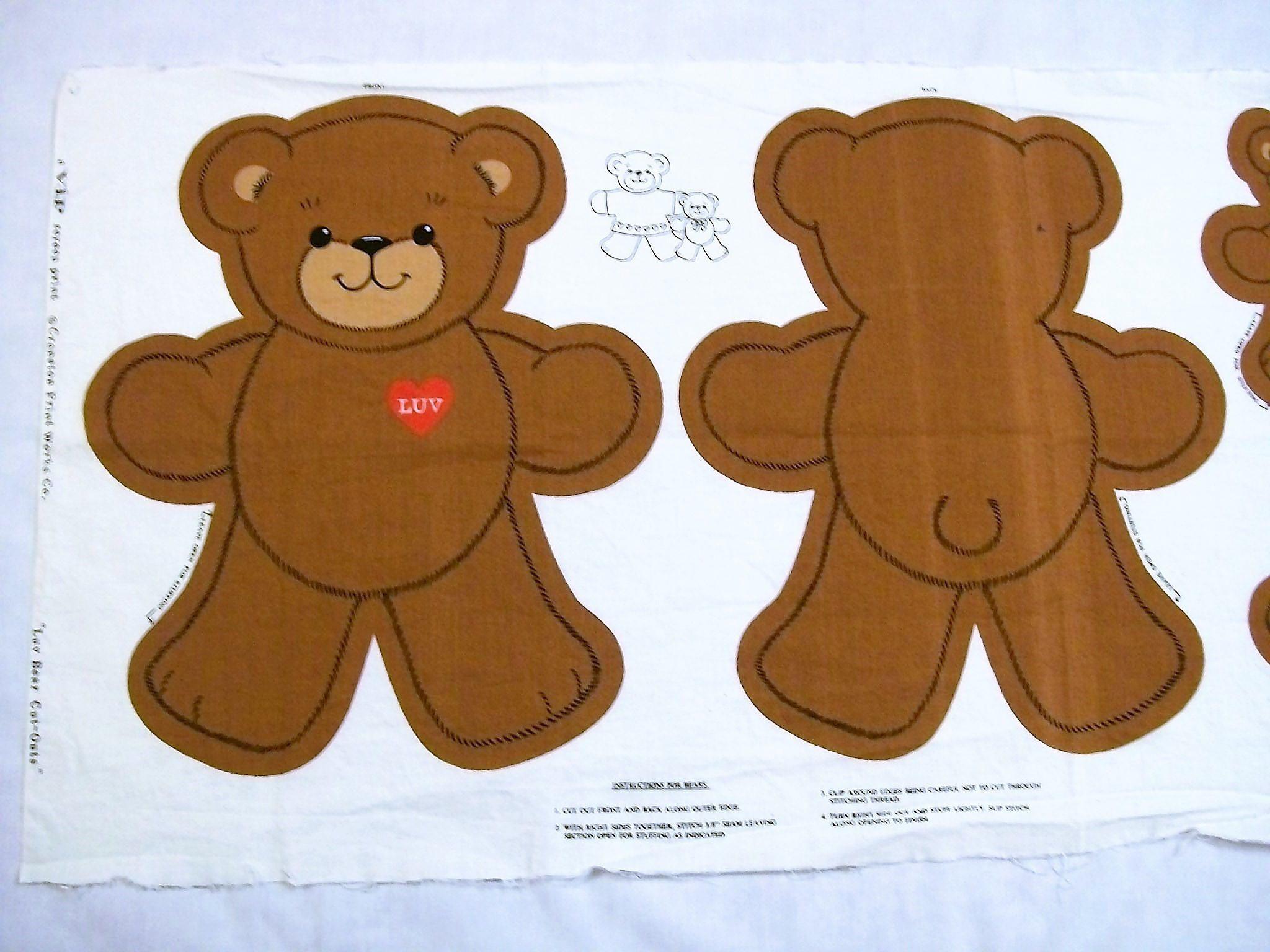 teddy bear vase of teddy bear pattern cut sew and stuff bear cranston print works in teddy bear pattern cut sew and stuff bear cranston print works luv bear