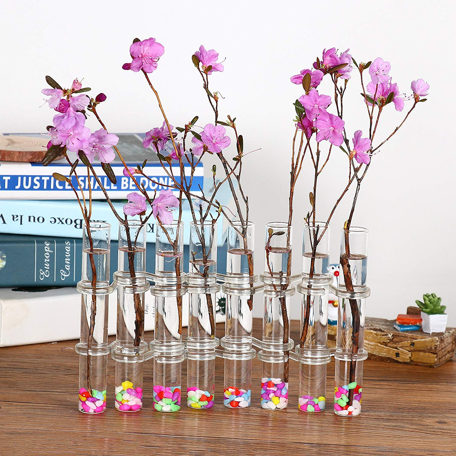test tube flower vase glass of ivolador 8 crystal glass test tube vase flower pots for hydroponic intended for ivolador 8 crystal glass test tube vase flower pots for hydroponic plants home garden decoration amazon ca patio lawn garden