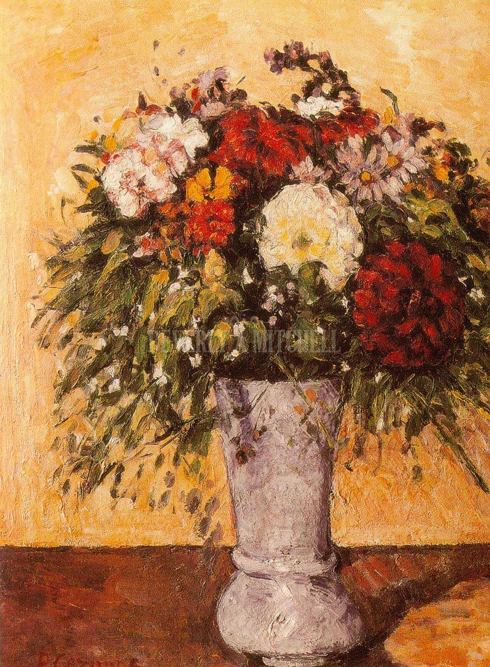 The Blue Vase by Paul Cezanne original Of Flowers In A Blue Vase by Paul Cezanne for Flowers In A Blue Vase A21 Paul Cezanne