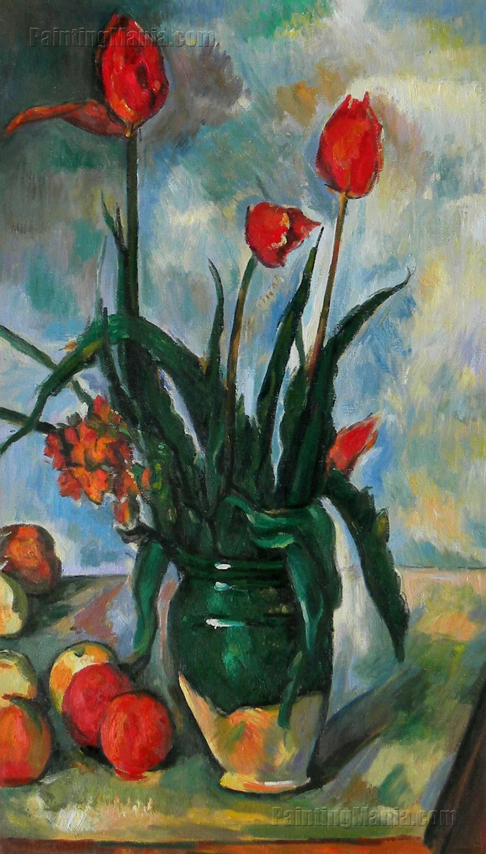 the blue vase paul cezanne of chasingtailfeathers tulips in a vase1888 1890 by paul cazanne inside chasingtailfeathers tulips in a vase1888 1890 by paul cazanne norton simon museum