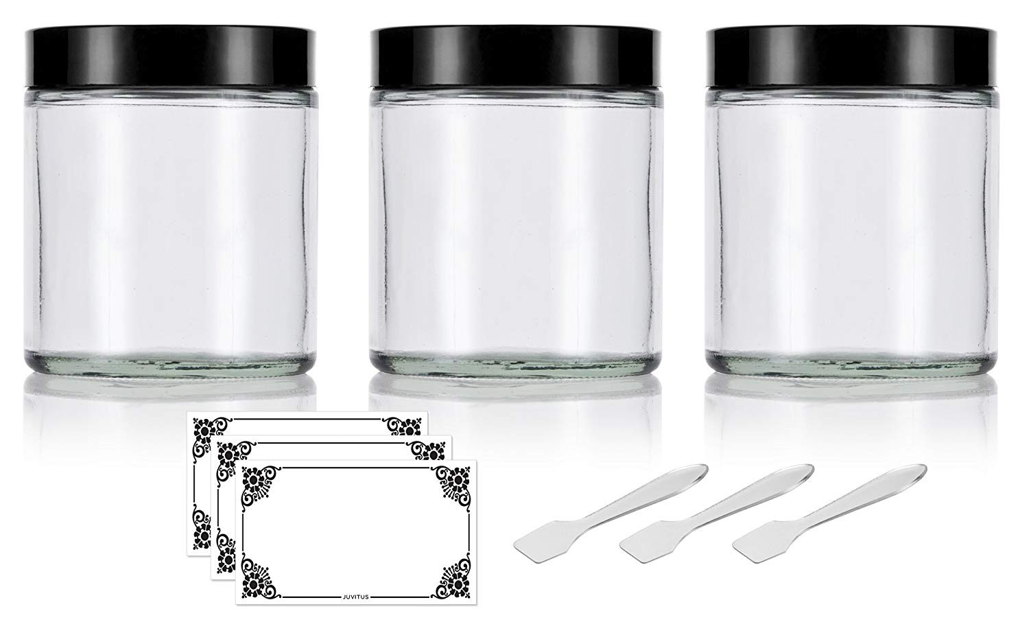 thick heavy glass vases of amazon com clear thick glass straight sided jar 4 oz 120 ml 3 with amazon com clear thick glass straight sided jar 4 oz 120 ml 3 pack spatulas and labels industrial scientific