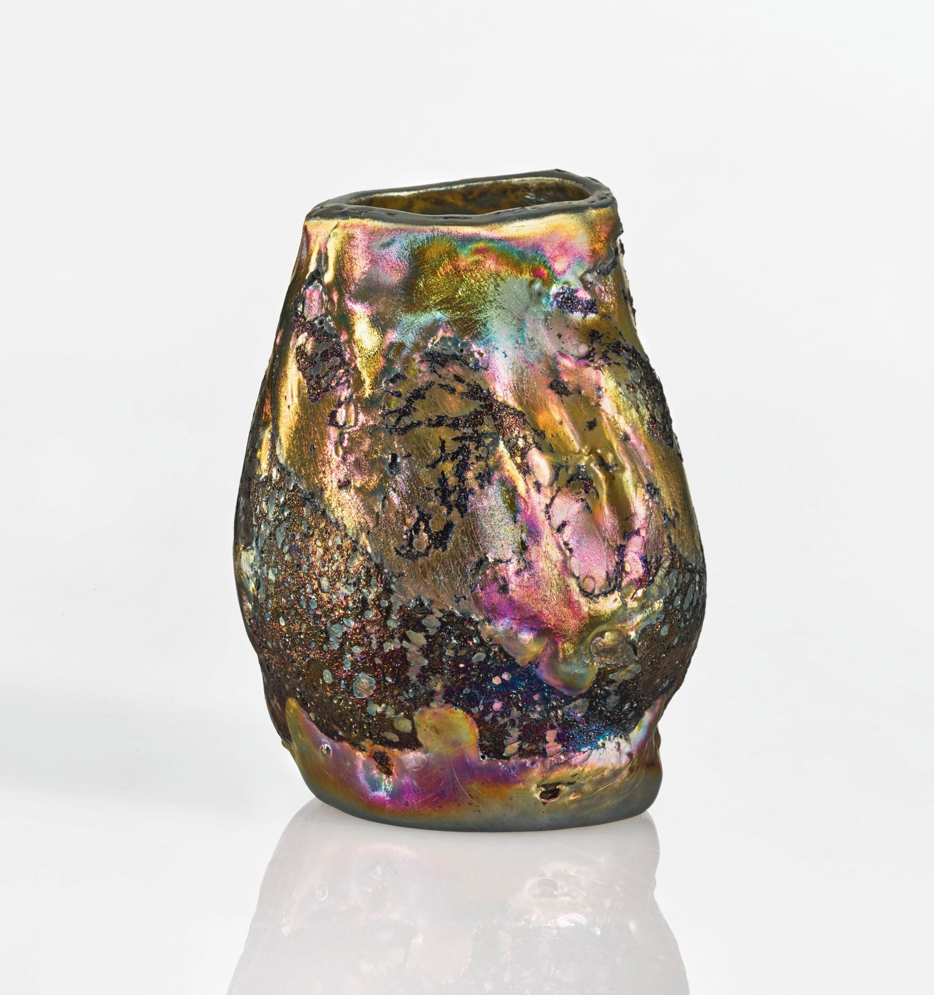 Tiffany Art Glass Vase Of Blouin Artinfo Regarding Tiffany Studios Lava Vase