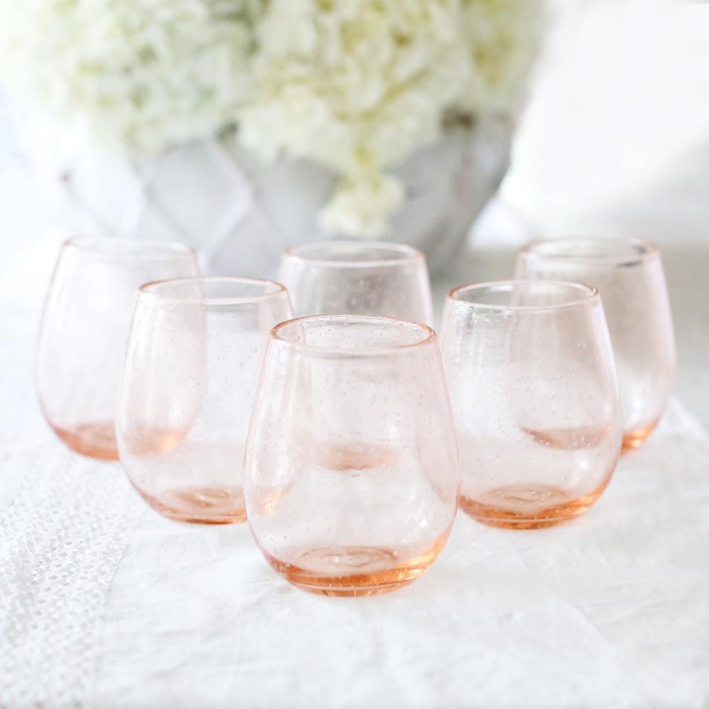 tiffany crystal bud vase of https www shabbychic com daily https www shabbychic com pertaining to pink bubble wine glasses 1 v1516131246