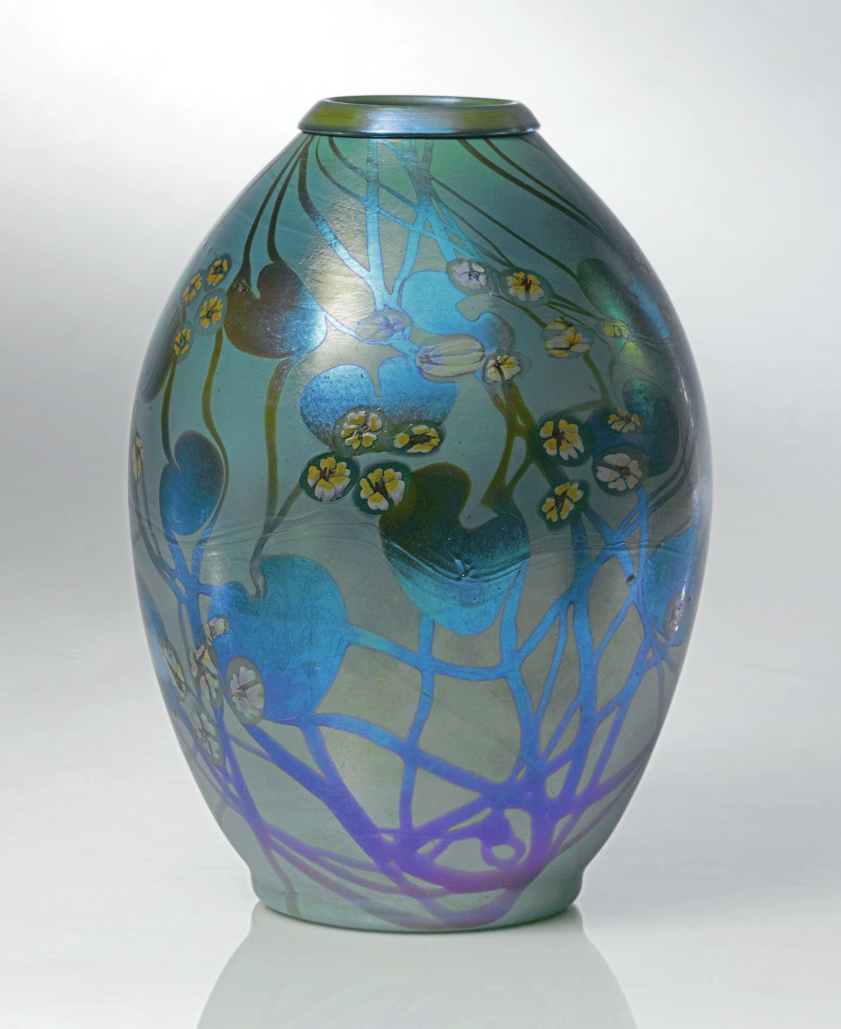 Tiffany Cypriote Glass Vase Of Tiffany Studios Millefiore Decorated Vase Tiffany Glass within Tiffany Studios Millefiore Decorated Vase