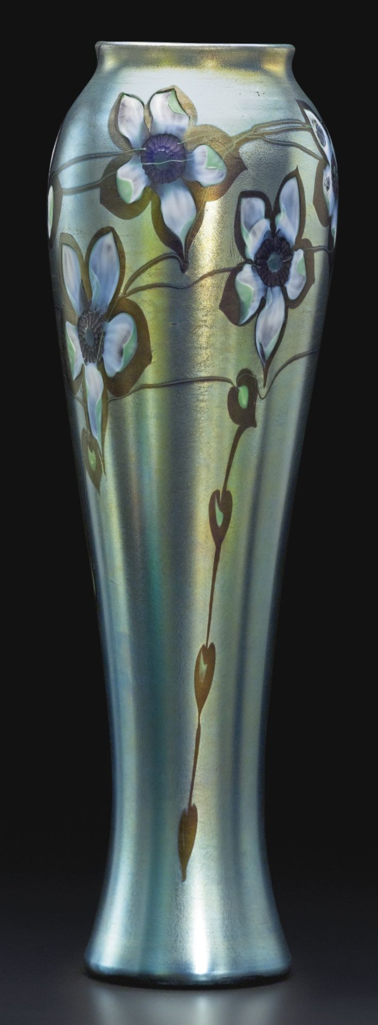 Tiffany Tulip Vase Of 280 Best Art Glass Images On Pinterest Art Nouveau Glass Vase and within Tall Blue Green Iridescent Vase with Flower Design by Tiffany Studios