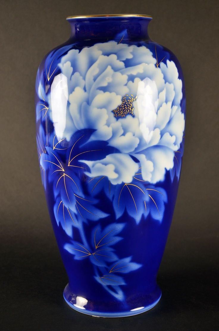 tiffany vase ebay of fukugawa japanese porcelain vase imperial fine china bone cobalt with regard to fukugawa japanese porcelain vase imperial fine china bone cobalt blue and white made in japan by fukagawa