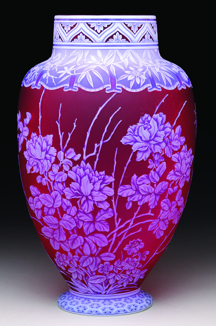 tiffany vines vase of 1000 best vases images by neil canfield on pinterest flower vases inside exceptional webb cameo vase in deep red with detailed carving sold 33180 00