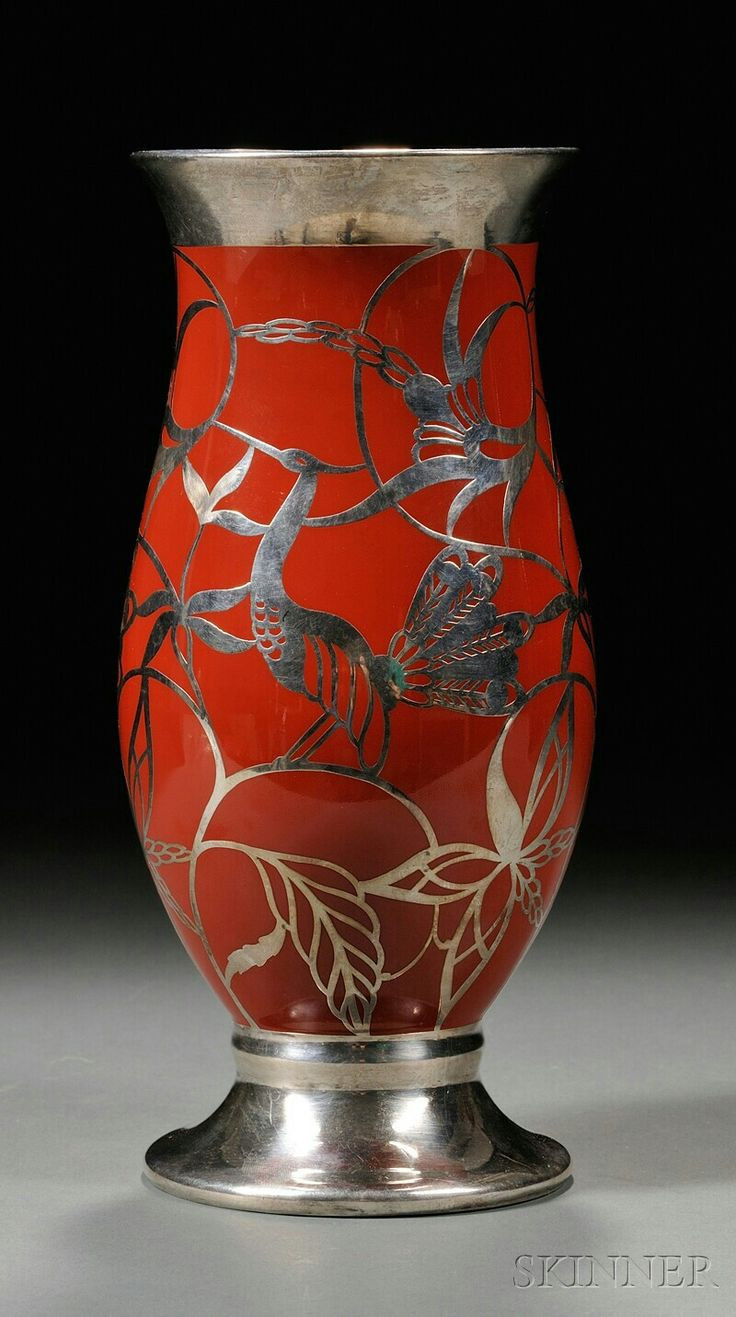 tiffany vines vase of 1000 best vases images by neil canfield on pinterest flower vases within hutschenreuther porcelain silver overlay vase germany 20th century flared rim on red orange body on white porcelain silver overlay decoration of birds and