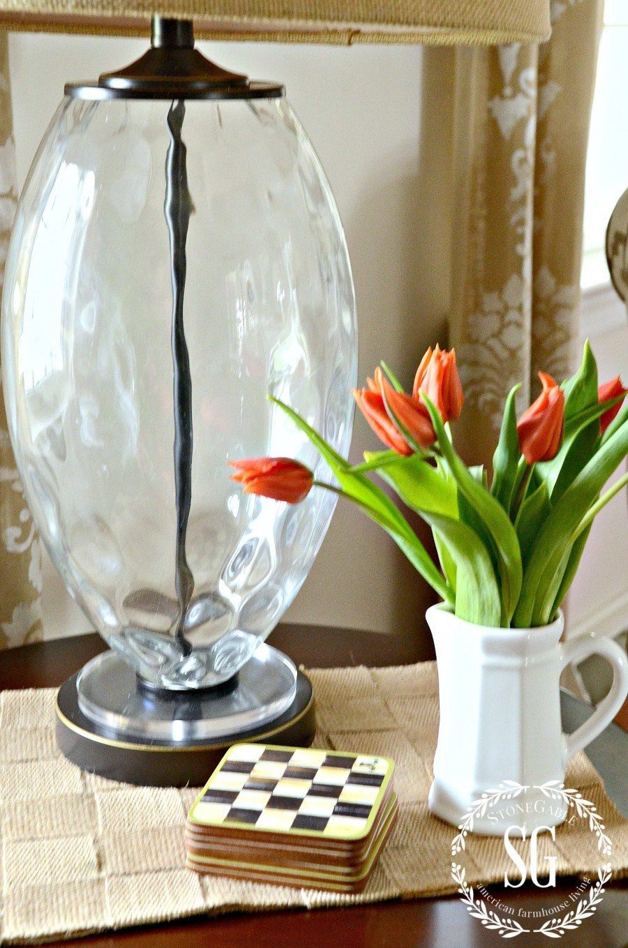 tiffany woven cylinder vase of the art of the understated table top stonegable with regard to the art of the understated table top tall glass lamp big drum lampshade