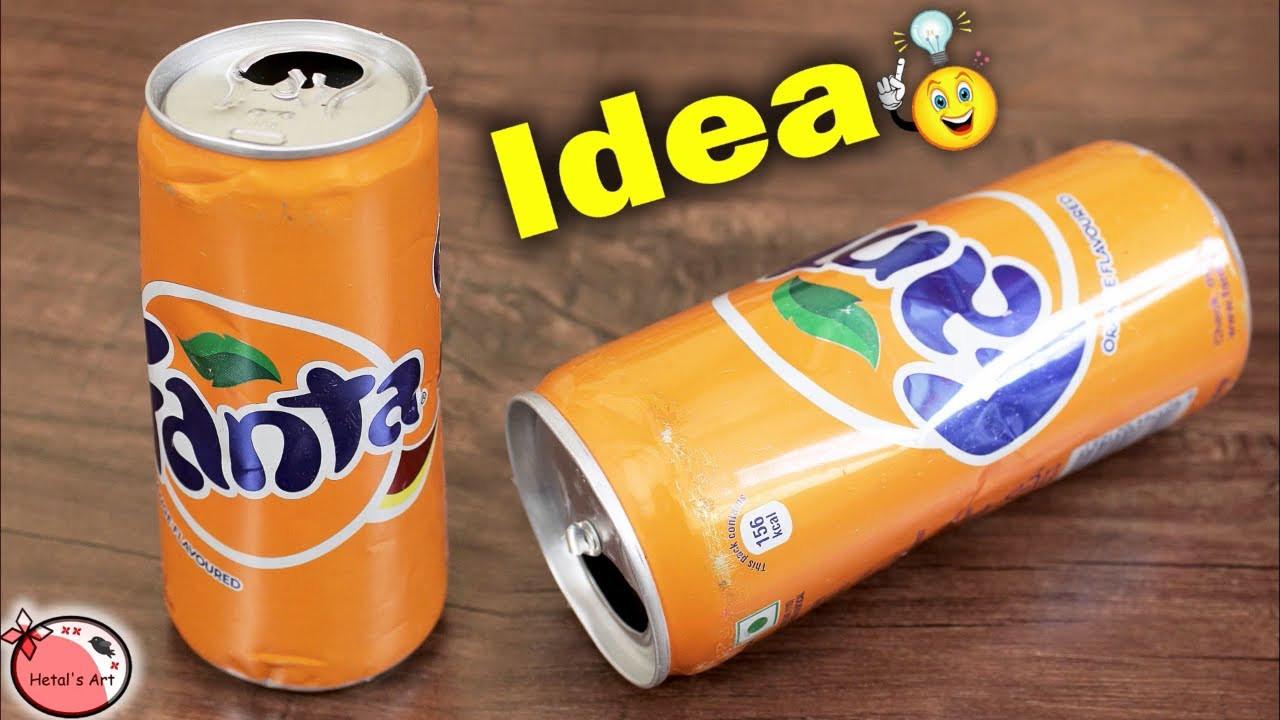 tin can vase ideas of best reuse idea out of cold drink can diy flower pot making for bestoutofwaste flowervase