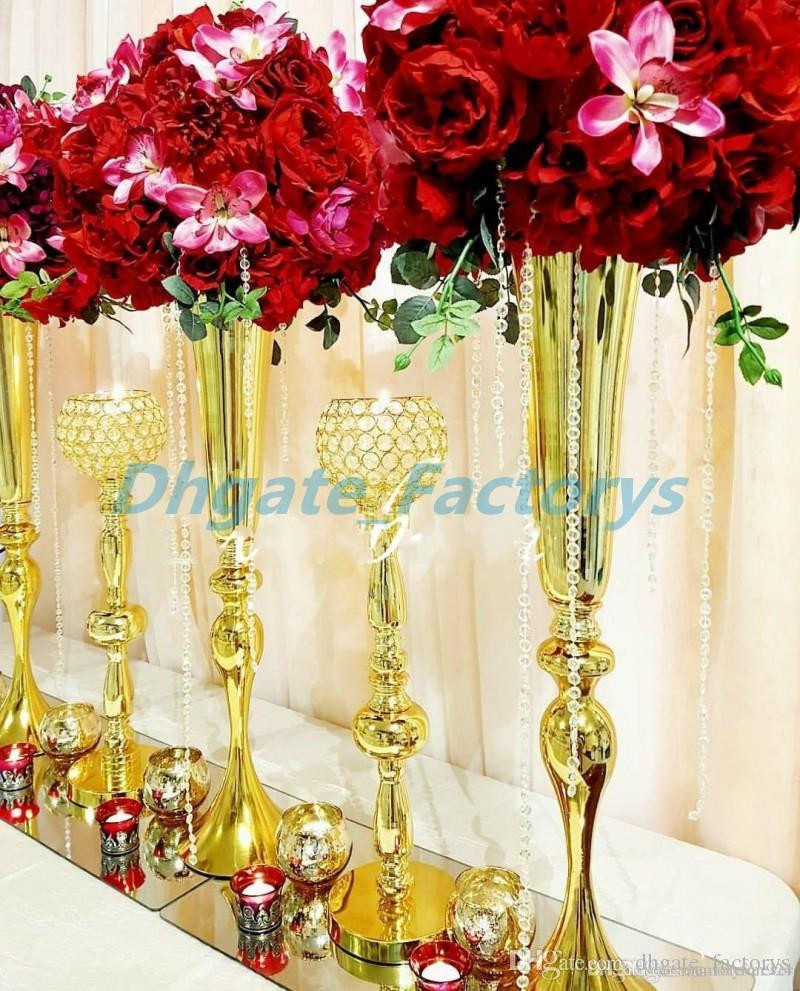 Tin Vases wholesale Of 88cm Tall Slim Metal Flower Vase Trumpet Vases Centerpieces for Intended for 88cm Tall Slim Metal Flower Vase Trumpet Vases Centerpieces for Wedding Decor Home Decoration Wedding Flower Stand wholesale Cute Party Supplies Deco