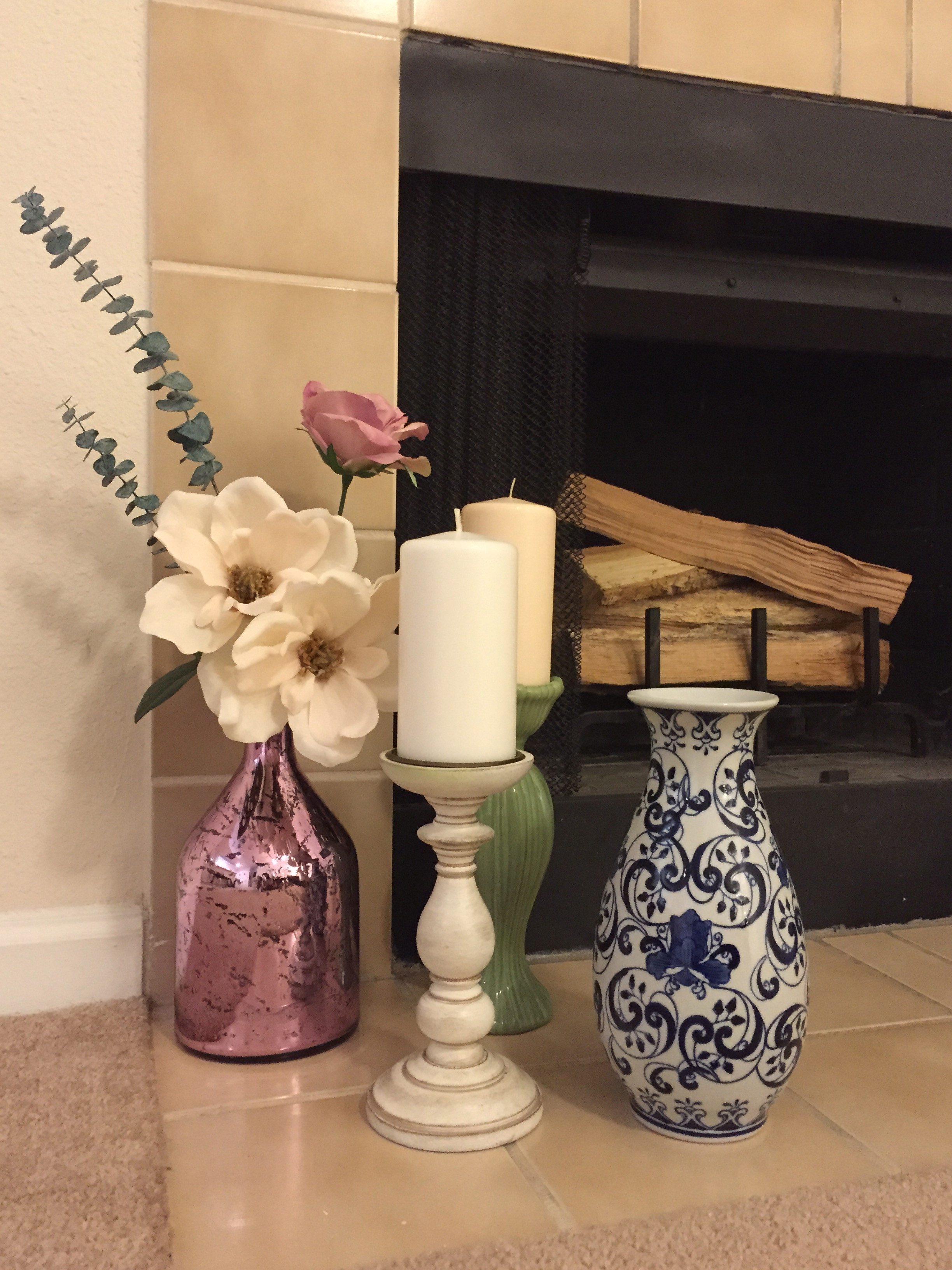 tj maxx vases home decor of decor daydreams do come true part ii mantle hearth coffee in i loved how the white and soft peachy nude picked up on the blushing pink of the magnolia flowers