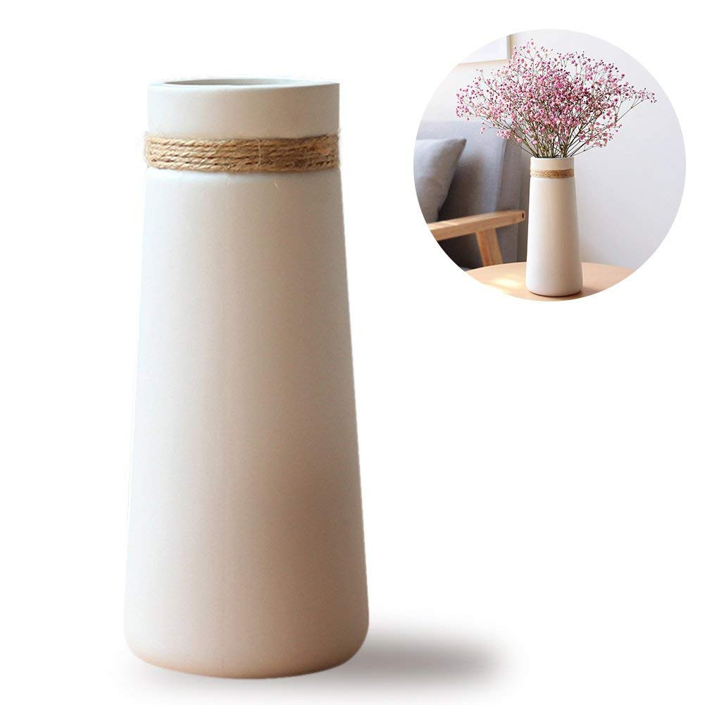 tobacco leaf vase of amazon com halova ceramic vases modern elegant decorative flower regarding amazon com halova ceramic vases modern elegant decorative flower vase for home decor living room and office taper white home kitchen