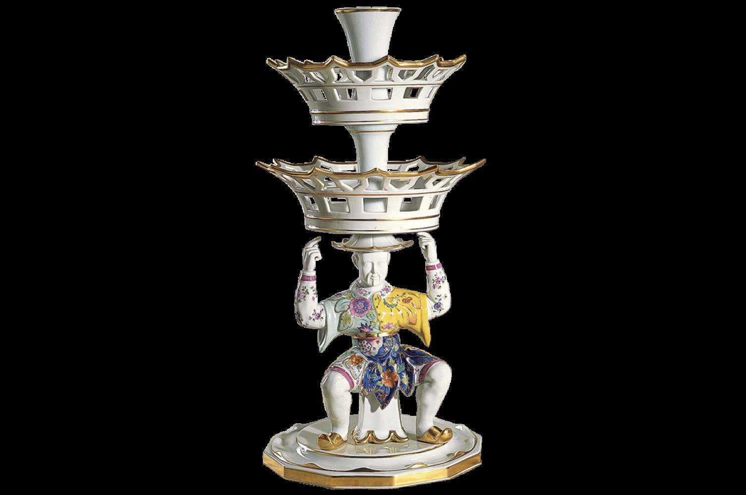 tobacco leaf vase of tobacco leaf man epergne large intended for s2708a