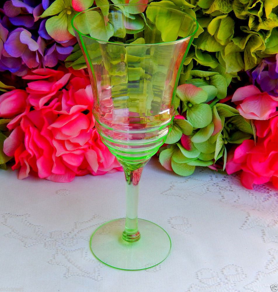 towle crystal vase of beautiful vintage vaseline glass green water goblet optic ribbed for beautiful vintage vaseline glass green water goblet optic ribbed
