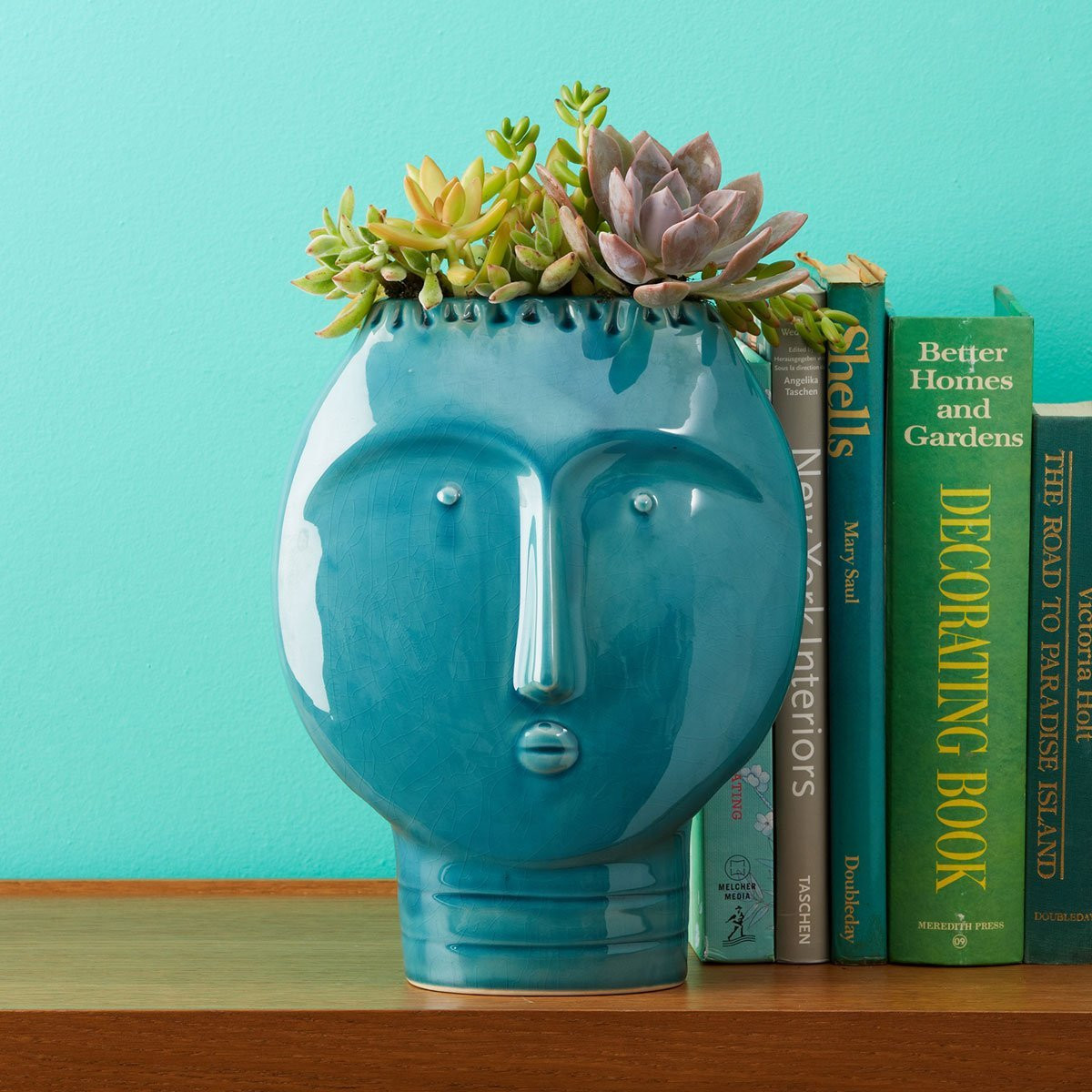 tozai home vase of buy 11 turquoise rustic ceramic cutout cylinder zen outdoor candle within tozai home frida retro turquoise vase ceramic size 8 1 2 w