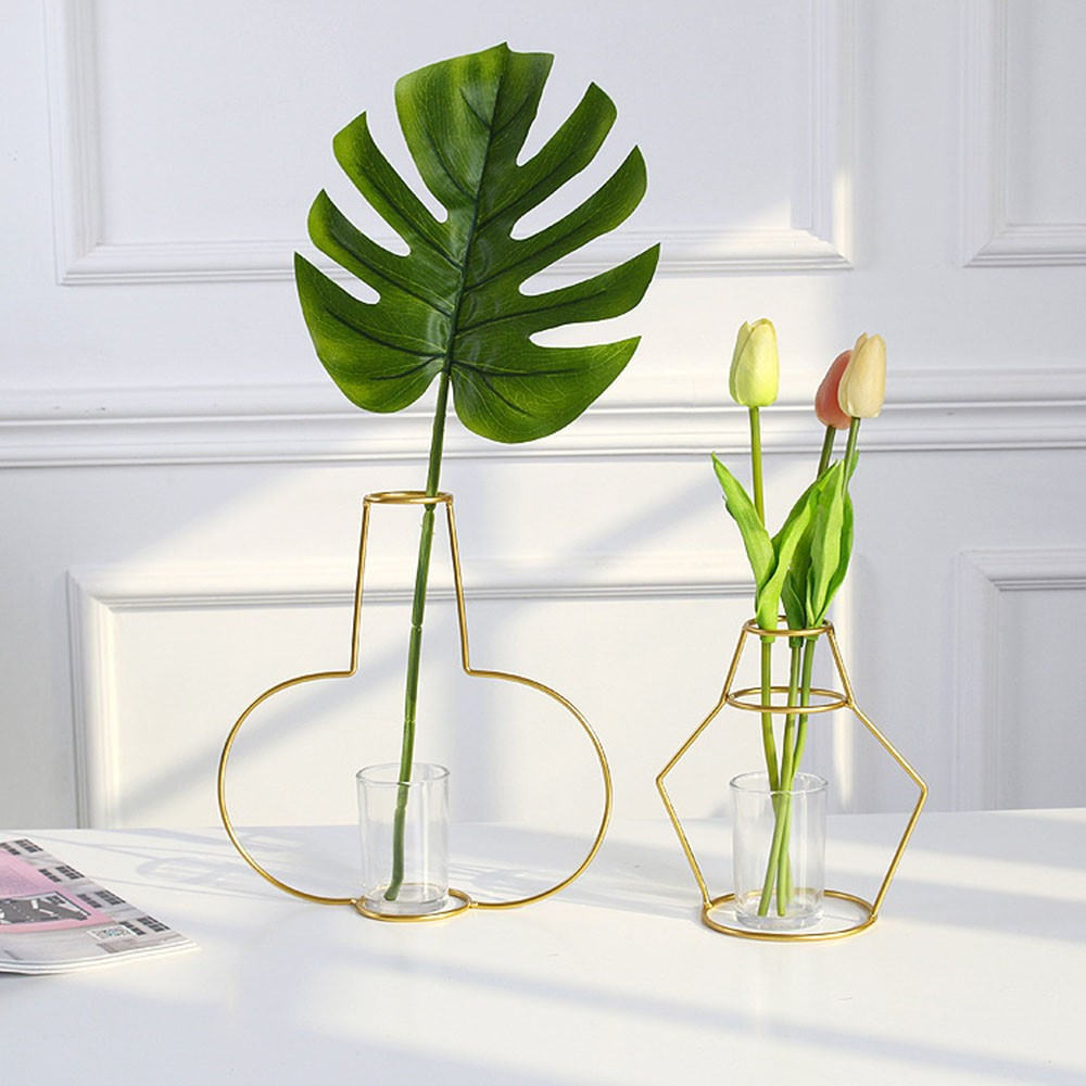 tube glass vase of aliexpress com buy modern vogue gold iron flower vase test tube with aliexpress com buy modern vogue gold iron flower vase test tube transparent glass vase hydroponic geometric flower shelf home decoration decoration from