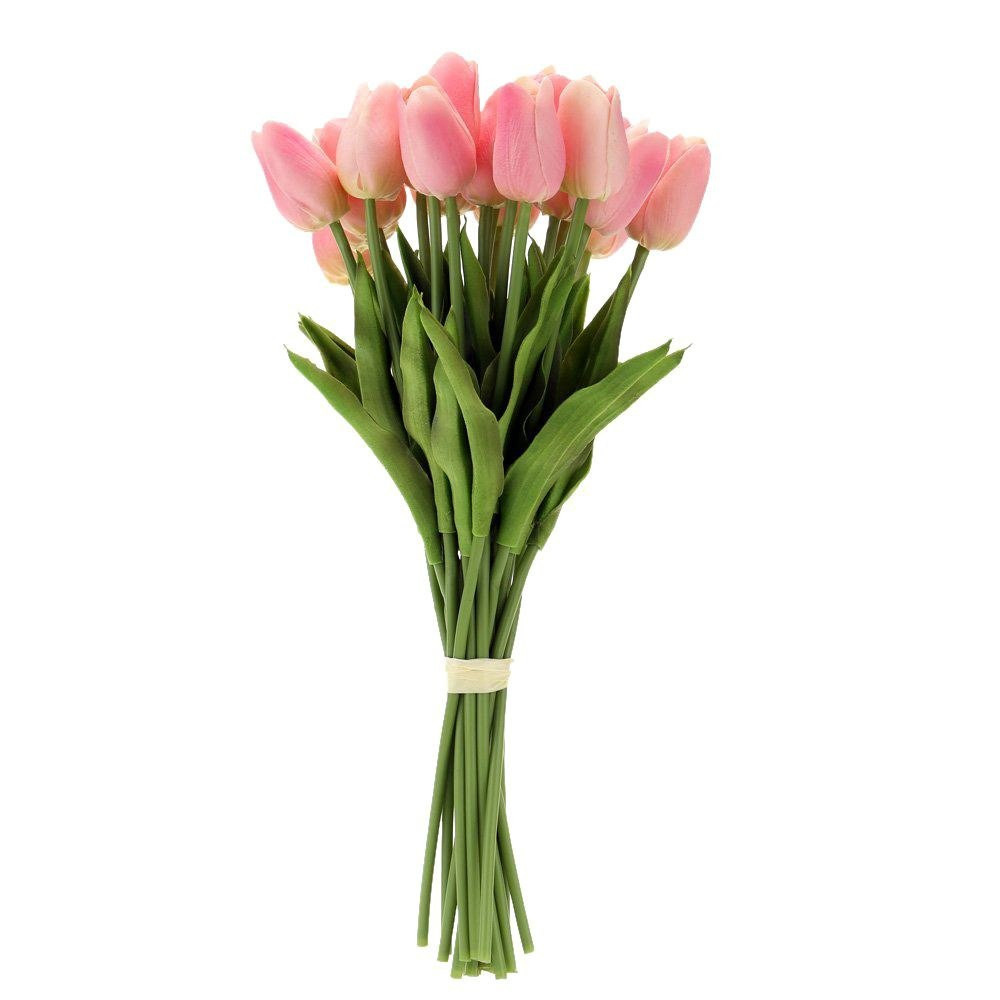 tulip vase for sale of hot sale 20pcs artificial tulip flowers single long stem bouquet regarding hot sale 20pcs artificial tulip flowers single long stem bouquet real touch beautiful simulation flowers for home room party w in artificial dried flowers