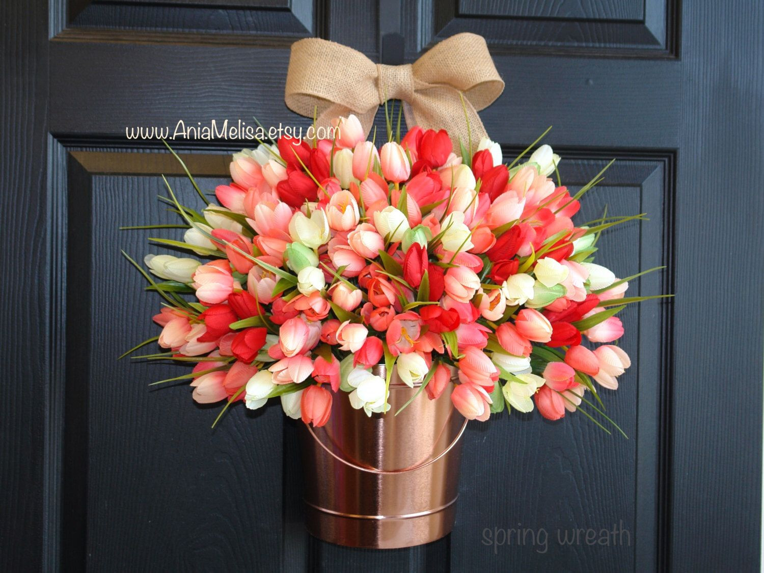 tulip vase ideas of spring wreath spring wreaths easter wreath flowers vases coral pertaining to spring wreath spring wreaths easter wreath flowers vases coral tulips wreaths front door decorations wreaths by