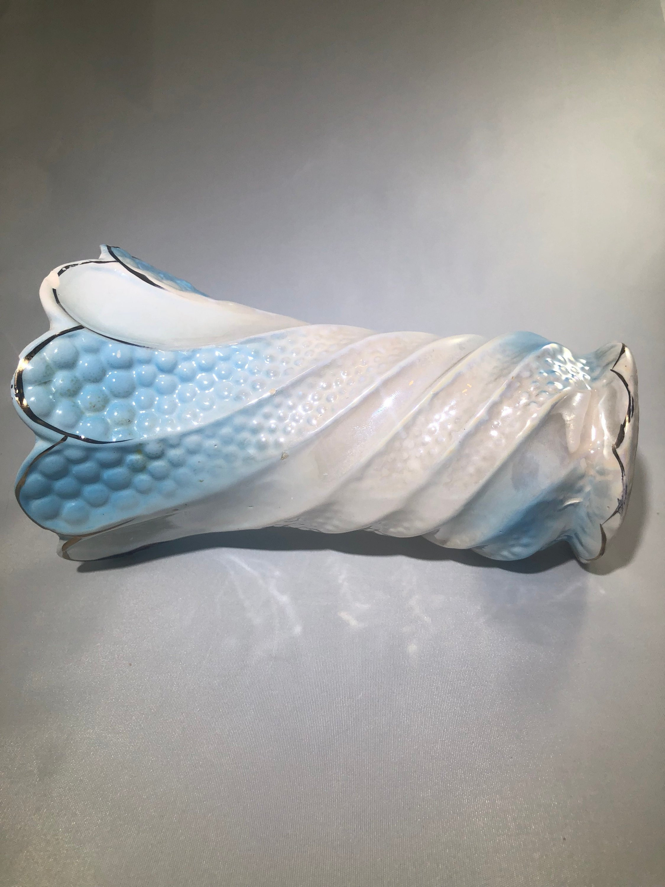 "turquoise ceramic mermaid vase of vintage iridescent mermaid tail ceramic vase flower planter inside dŸ""Žzoom"