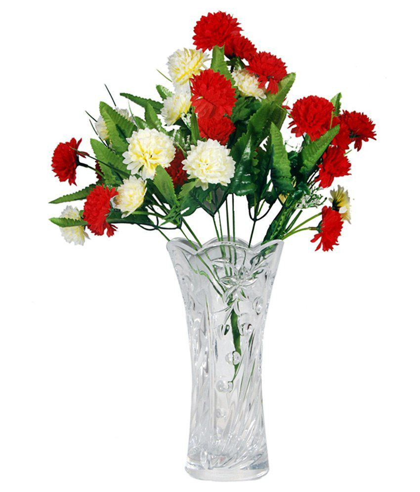 types of vases for flowers of orchard crystal flower vase with a bunch of red white carnation inside orchard crystal flower vase with a bunch of red white carnation flowers