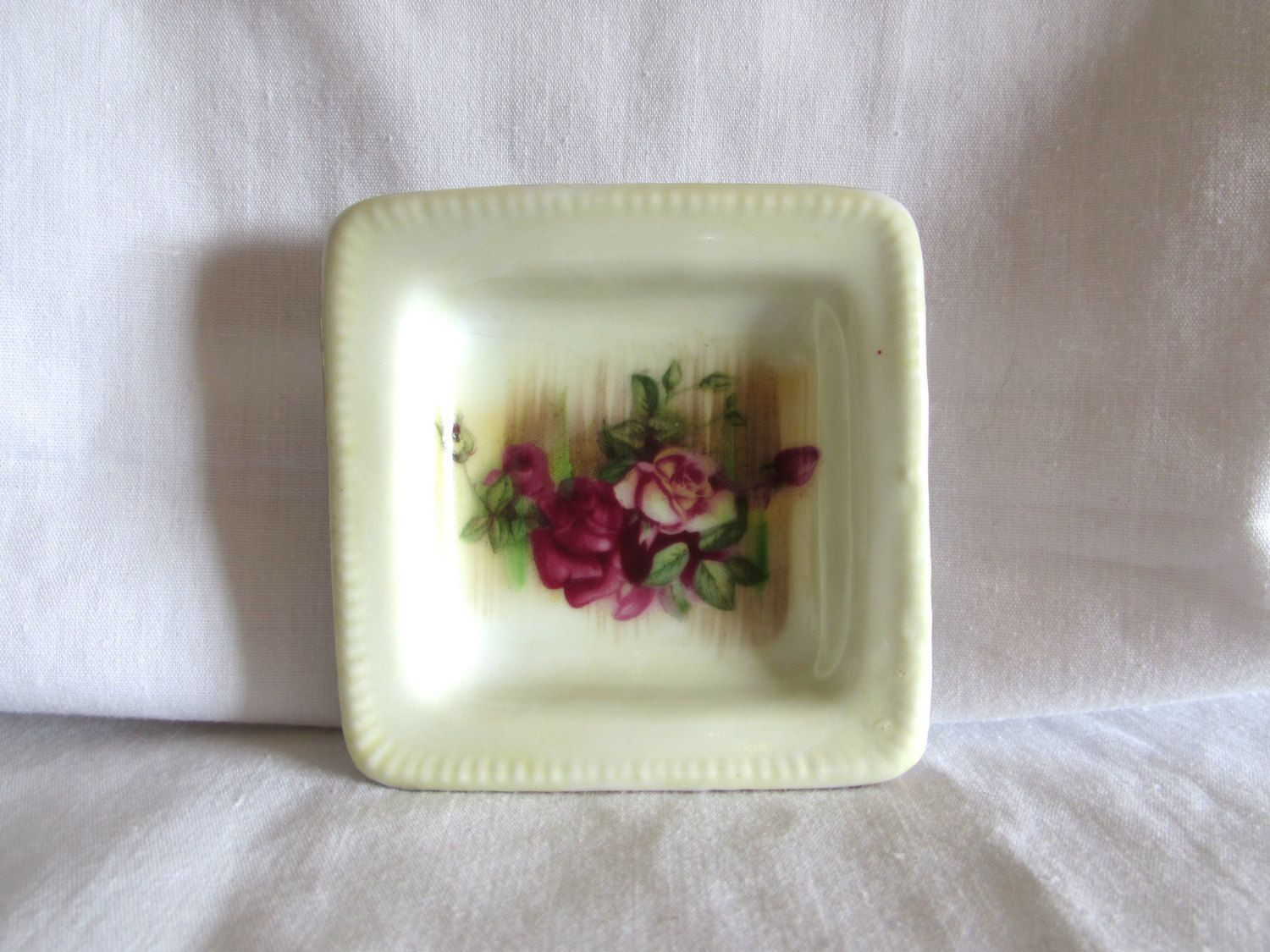 ucagco china vase of miniature square trinket dish rose floral design pin dish ucagco inside miniature square trinket dish rose floral design pin dish ucagco ring dish laslovelies