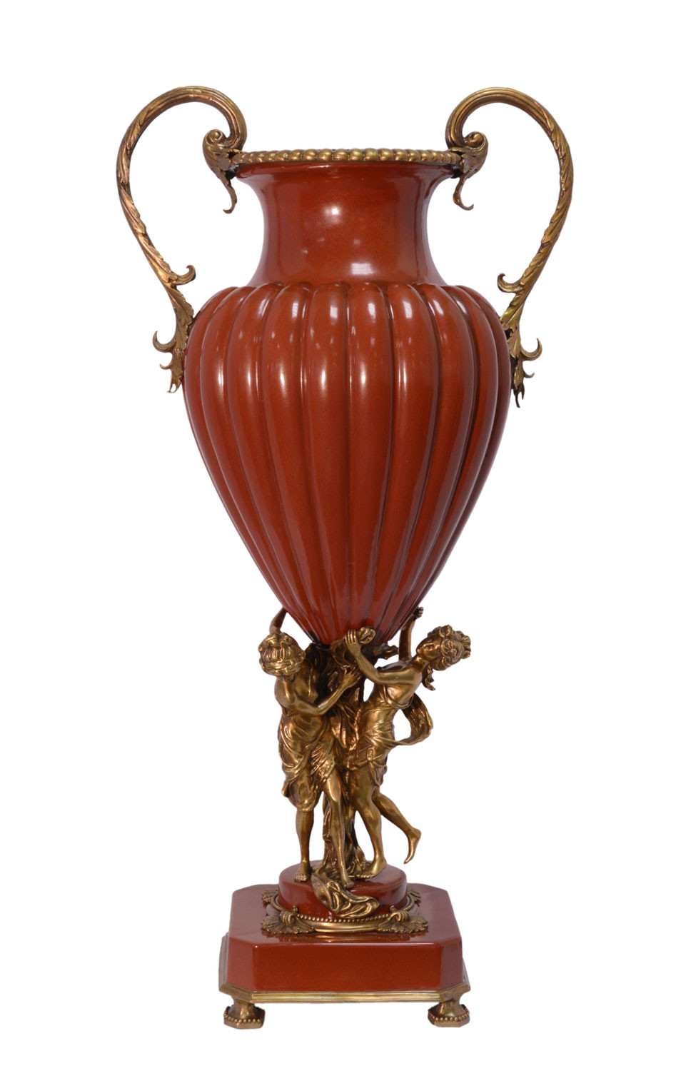 umbrella vase stand of a two handled red oviform porcelain vase angel 79cm aubaho within cc 051