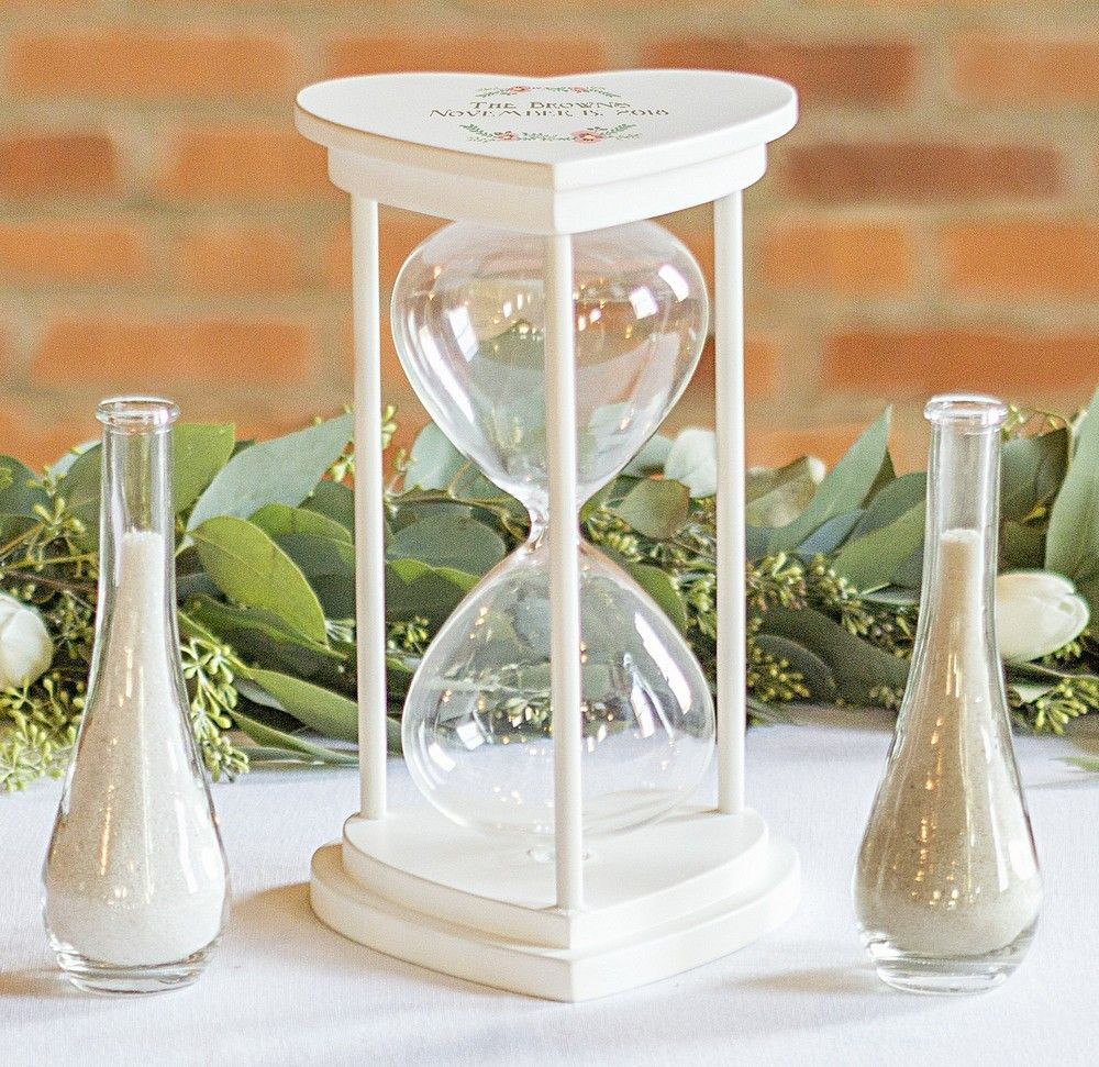 unity sand vases personalized of floral design personalized hourglass wedding unity sand ceremony set within personalized floral design hourglass wedding unity sand ceremony set on table